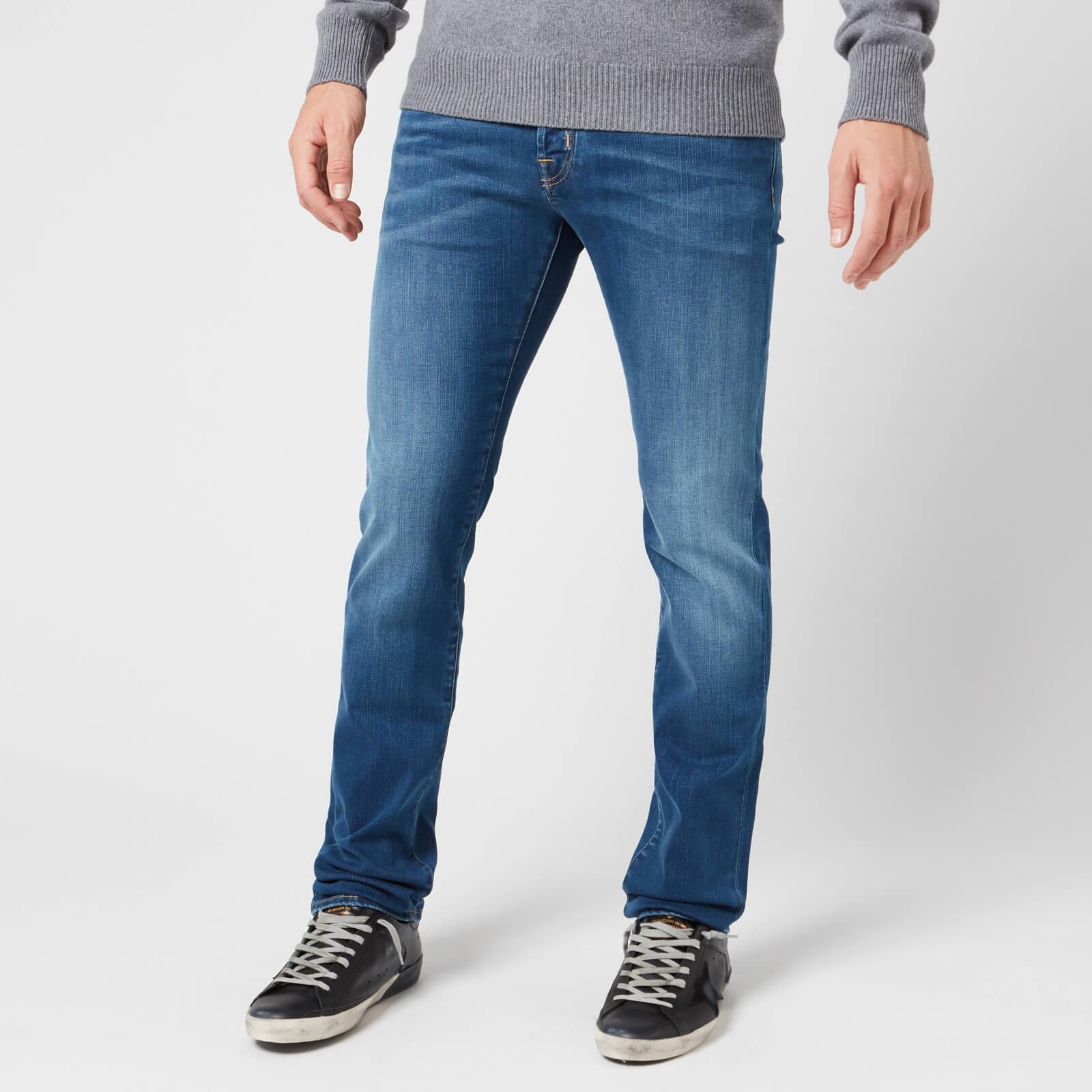 Jacob Cohen Men's Brown Badge Slim Denim Jeans - Blue - W30/L34
