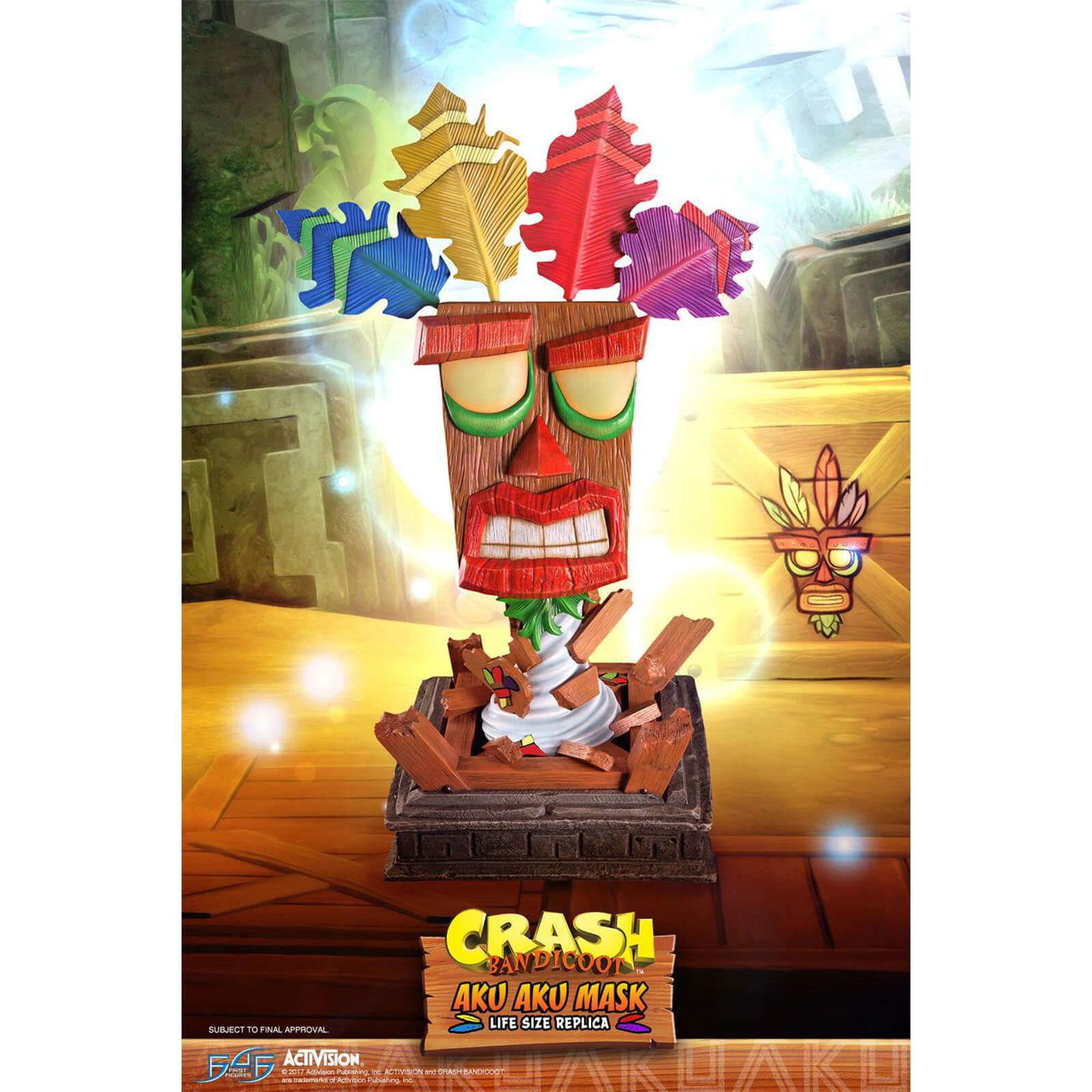 Image of First 4 Figures Crash Bandicoot Aku Aku Mask Life Size Resin Statue