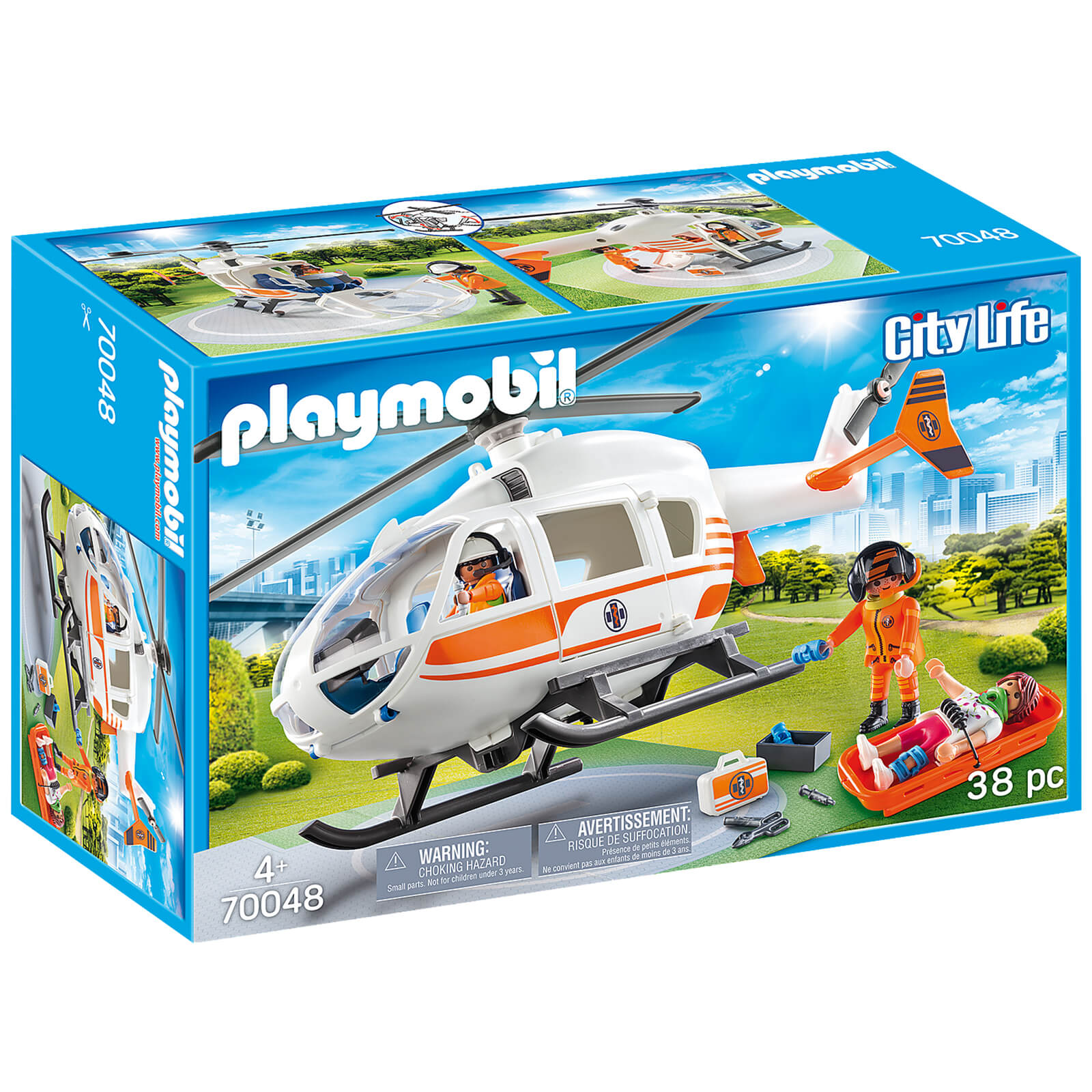 Playmobil City Life Rescue Helicopter (70048)