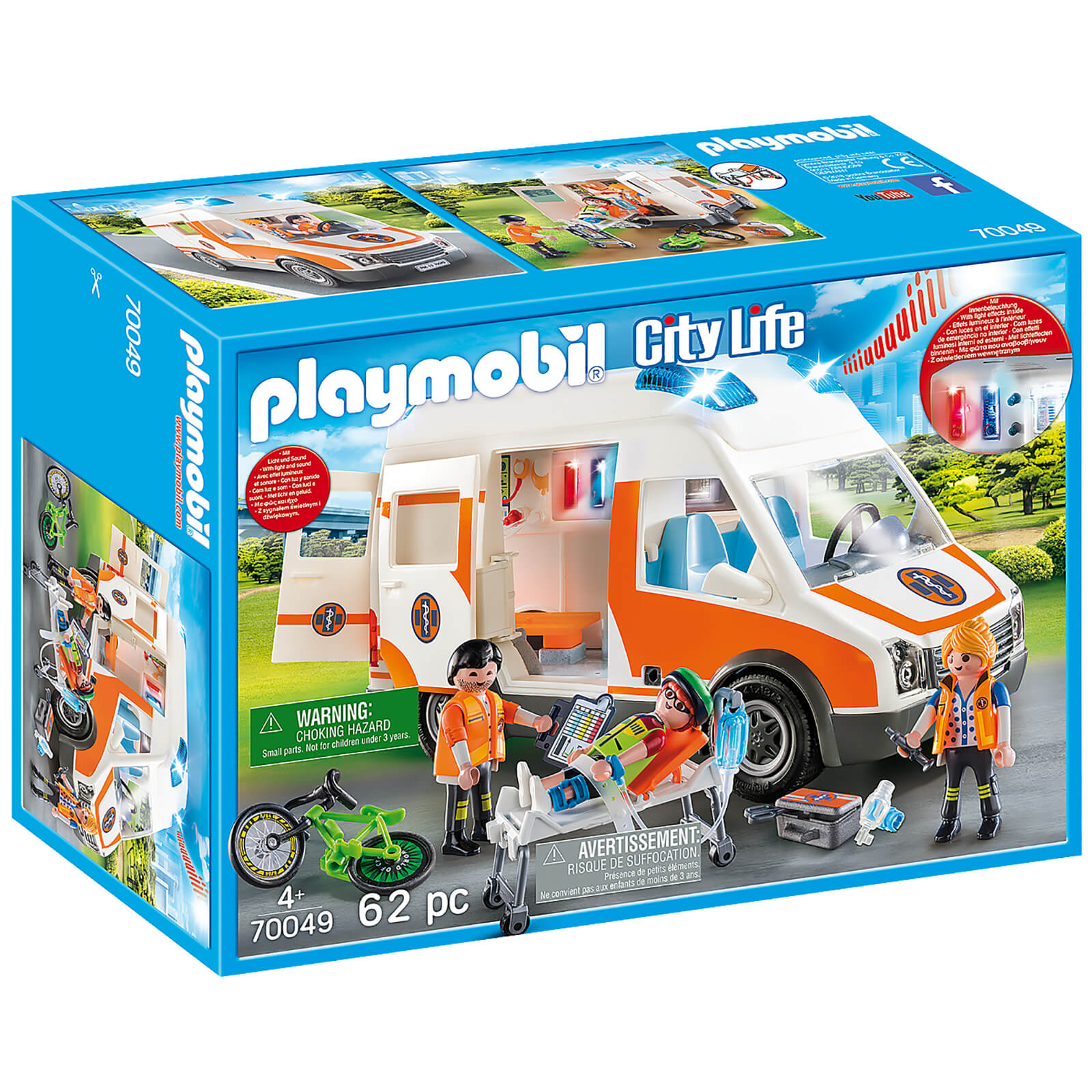 Image of Playmobil City Life Ambulance with Lights and Sound (70049)