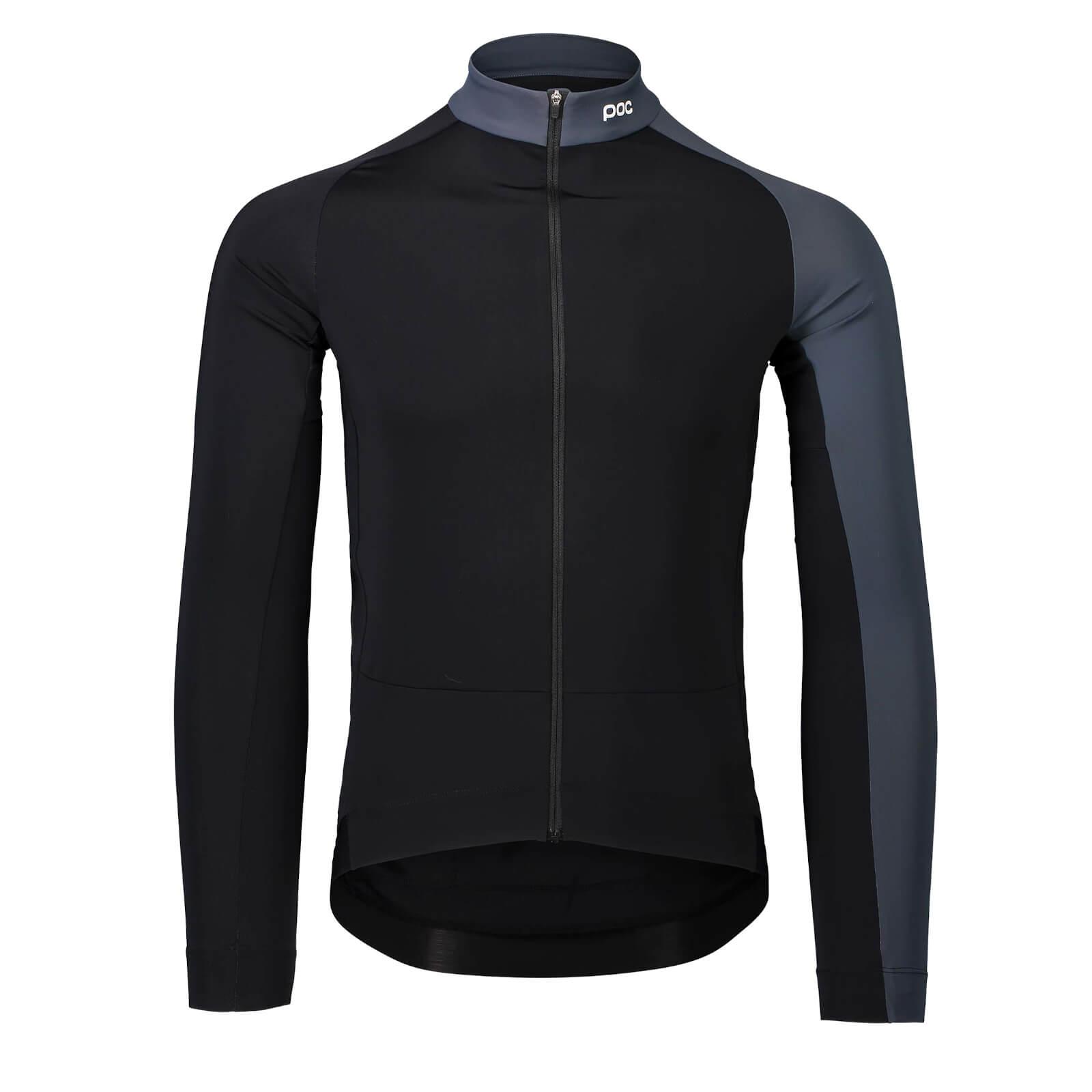 POC Essential Mid Long Sleeve Jersey - XL - Uranium Black/Sylvanite Grey