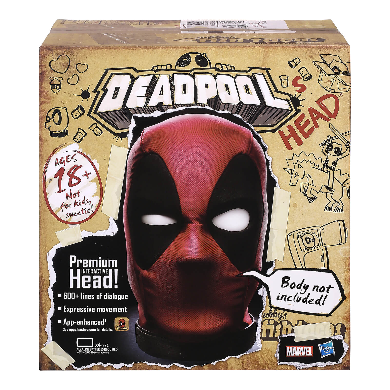 Image of Hasbro Marvel Legends Premium Interactive Deadpool Head