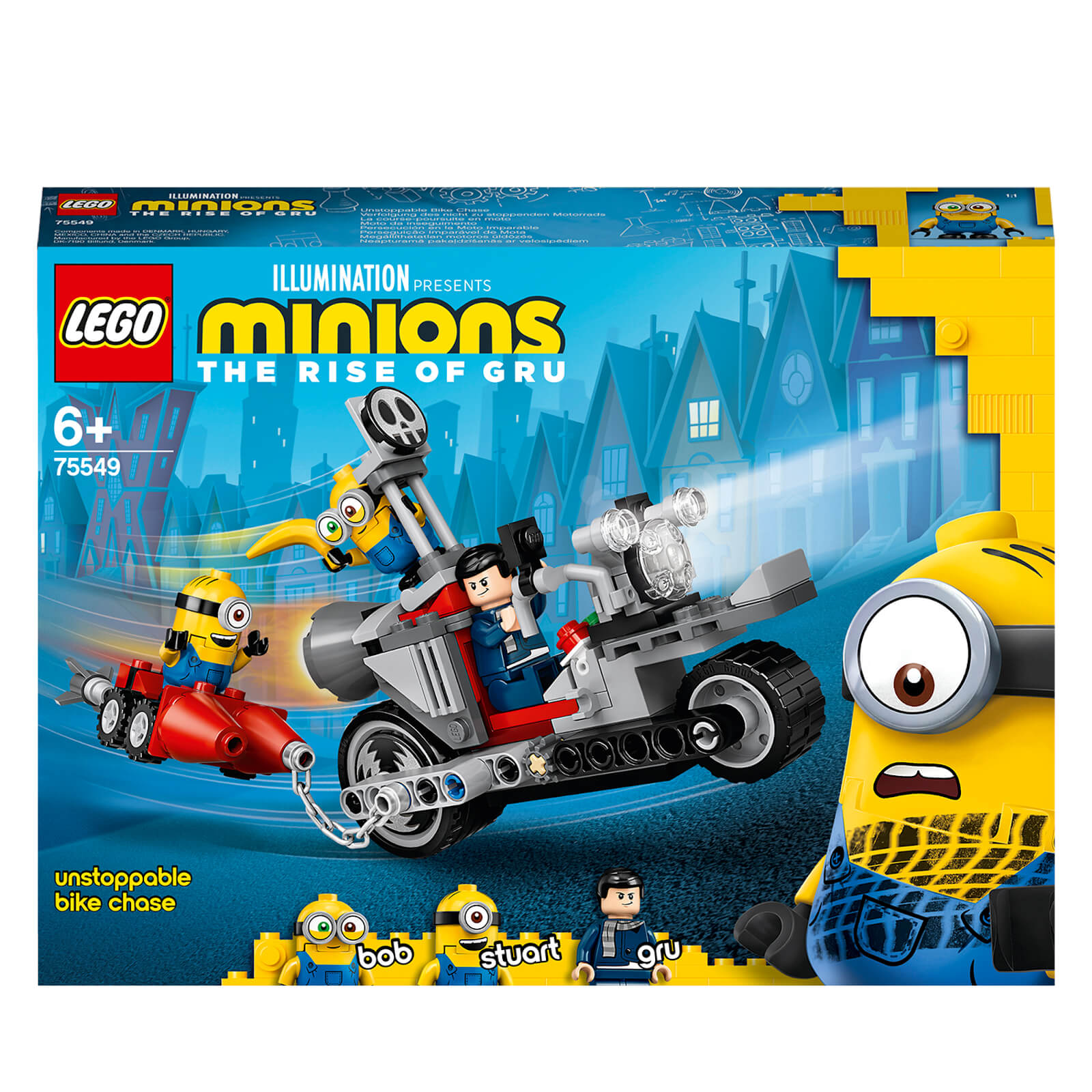 Image of LEGO Minions: Unstoppable Bike Chase & Skate Toy (75549)
