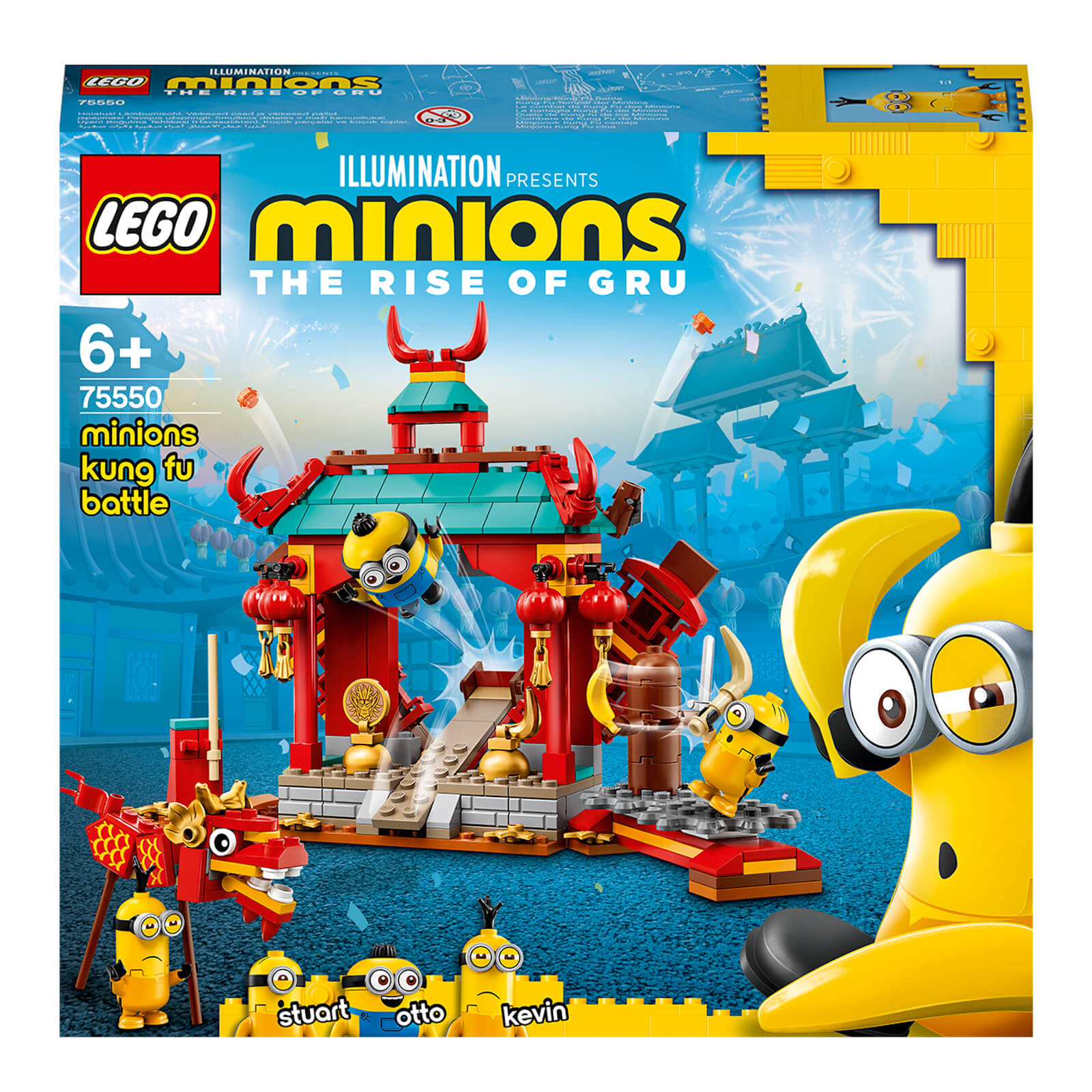 Image of LEGO Minions: Kung Fu Battle Building Set with Dragon (75550)