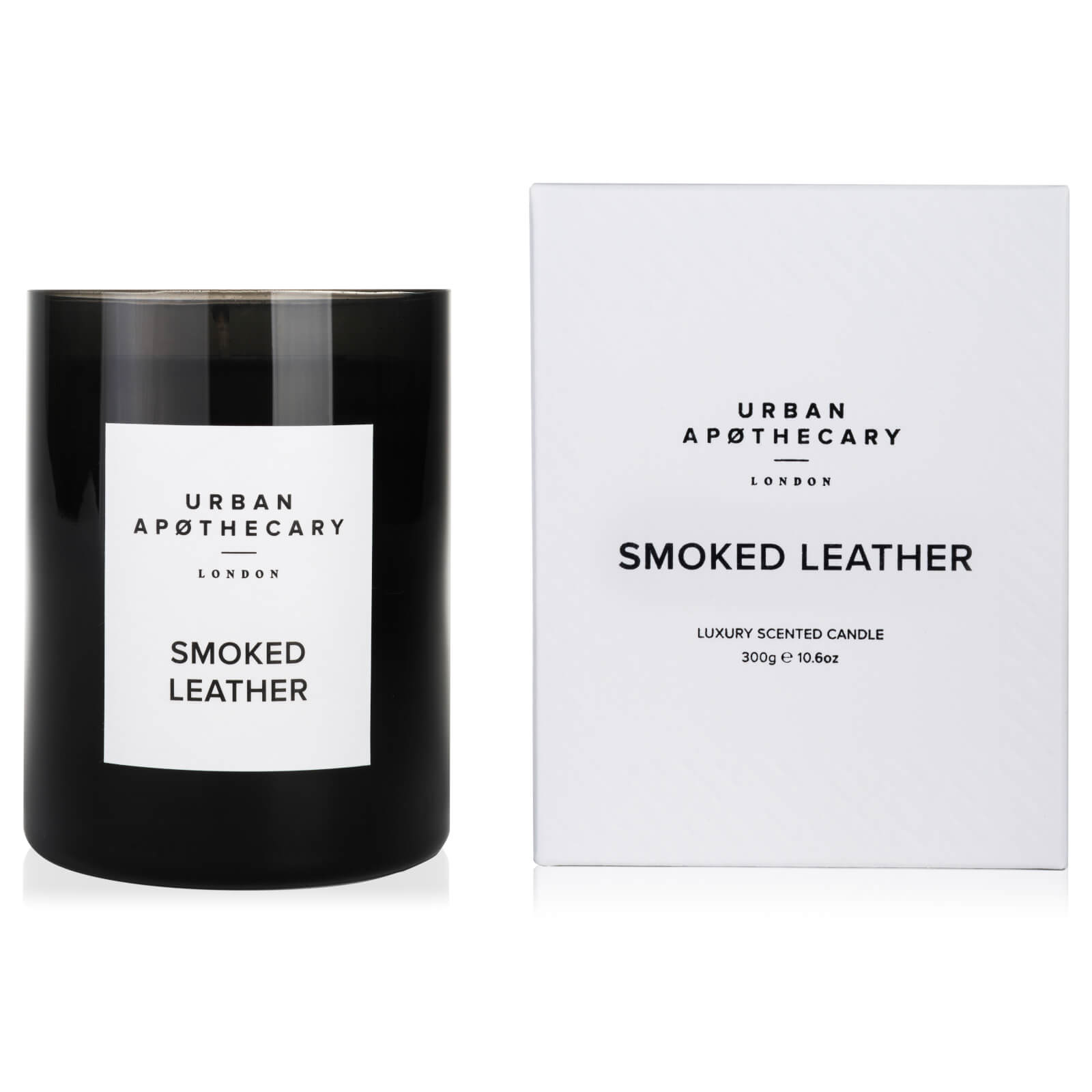 Urban Apothecary Smoked Leather Luxury Candle - 300g