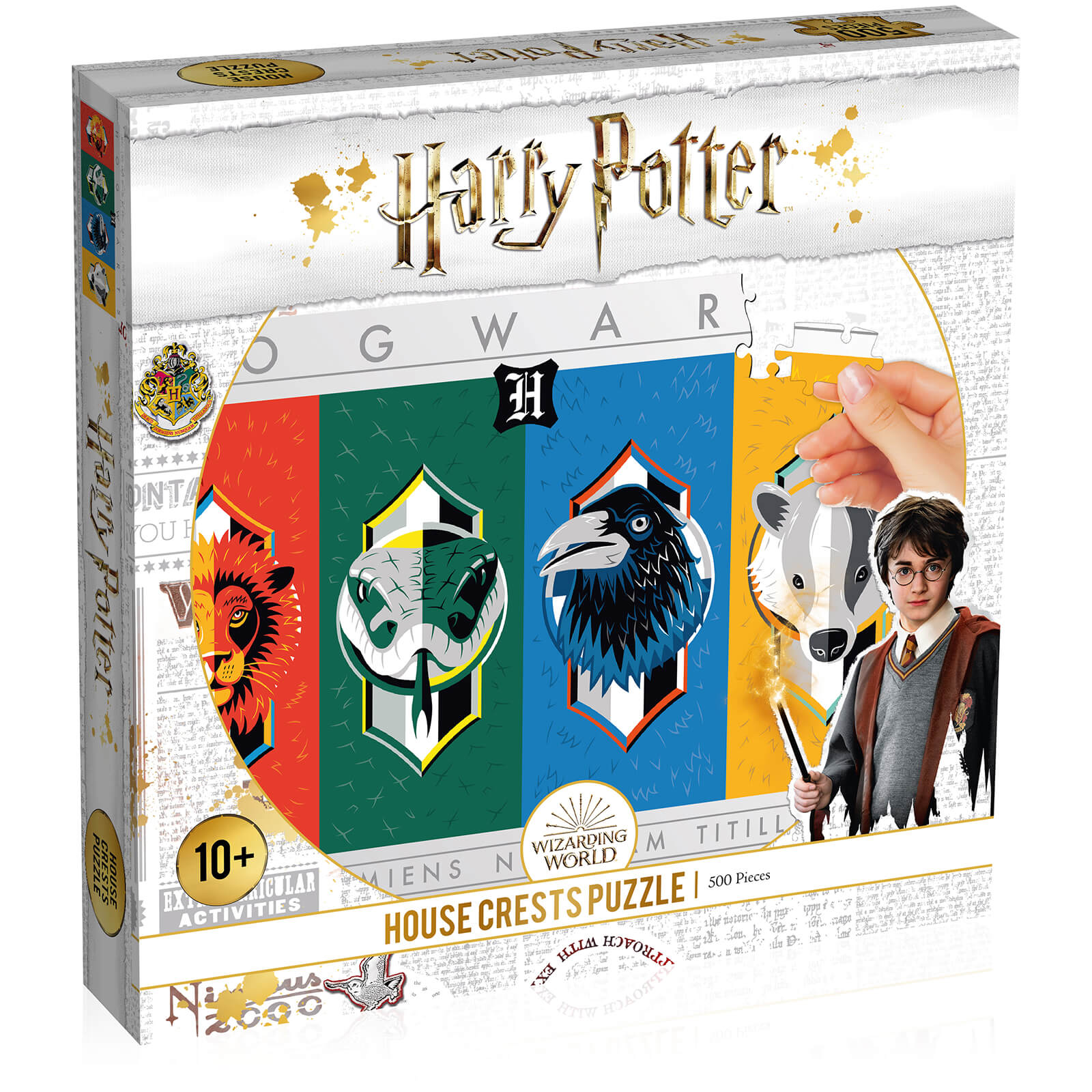 Image of 500 Piece Jigsaw Puzzle - Harry Potter House Crests Edition