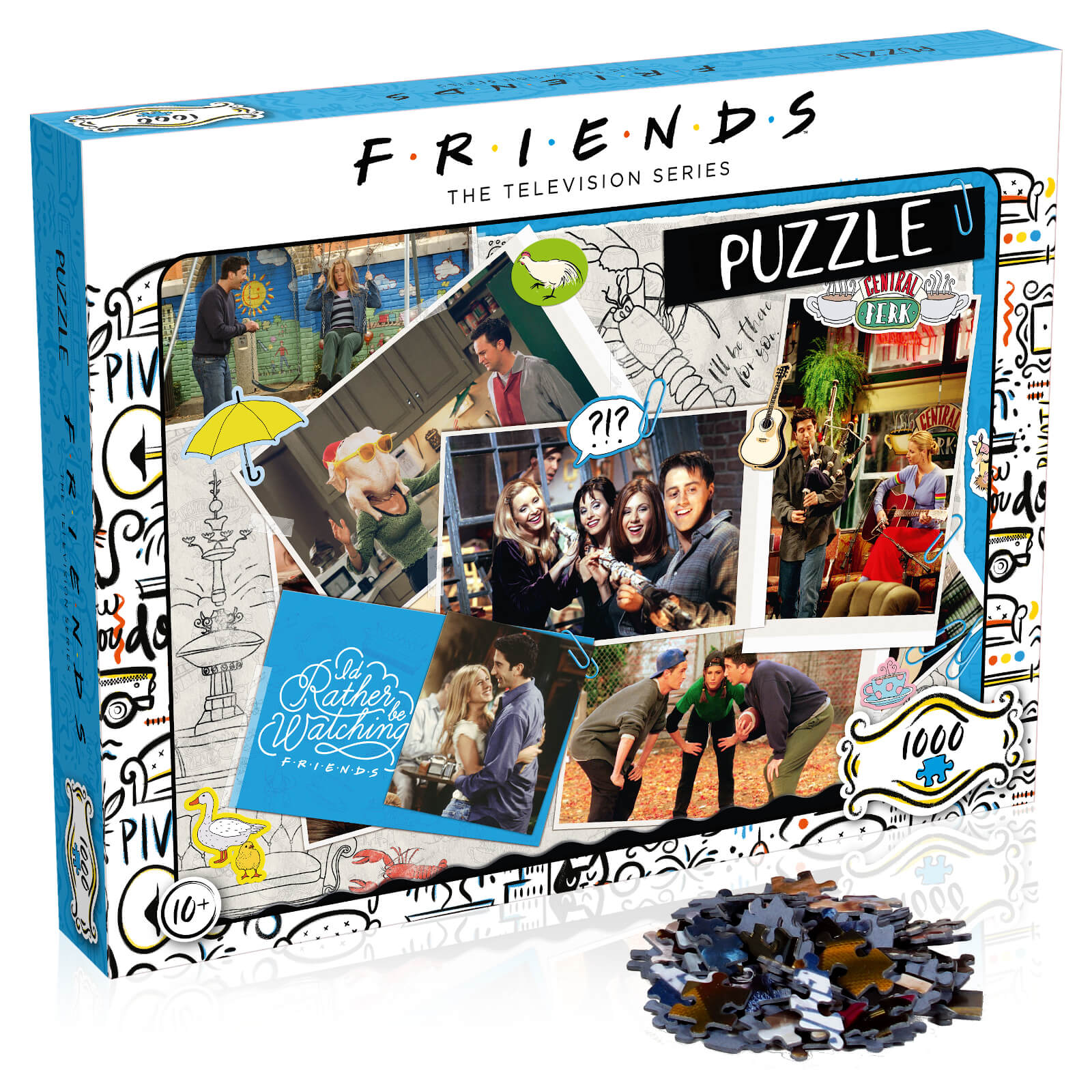 Image of 1000 Piece Jigsaw Puzzle - Friends Scrapbook Edition