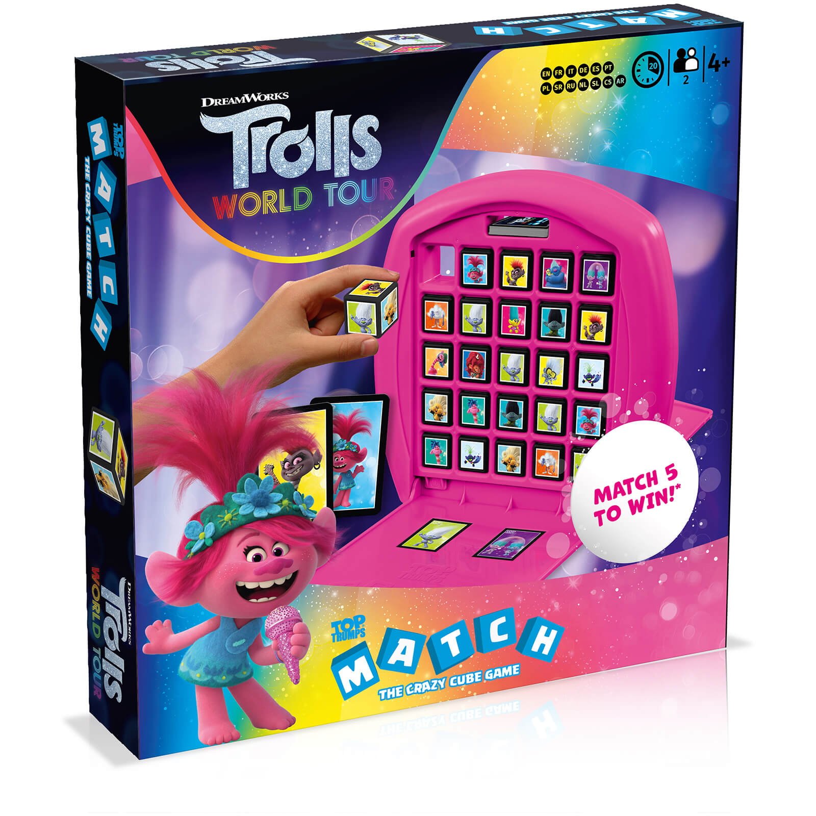 Image of Top Trumps Match Board Game - Trolls 2 Edition