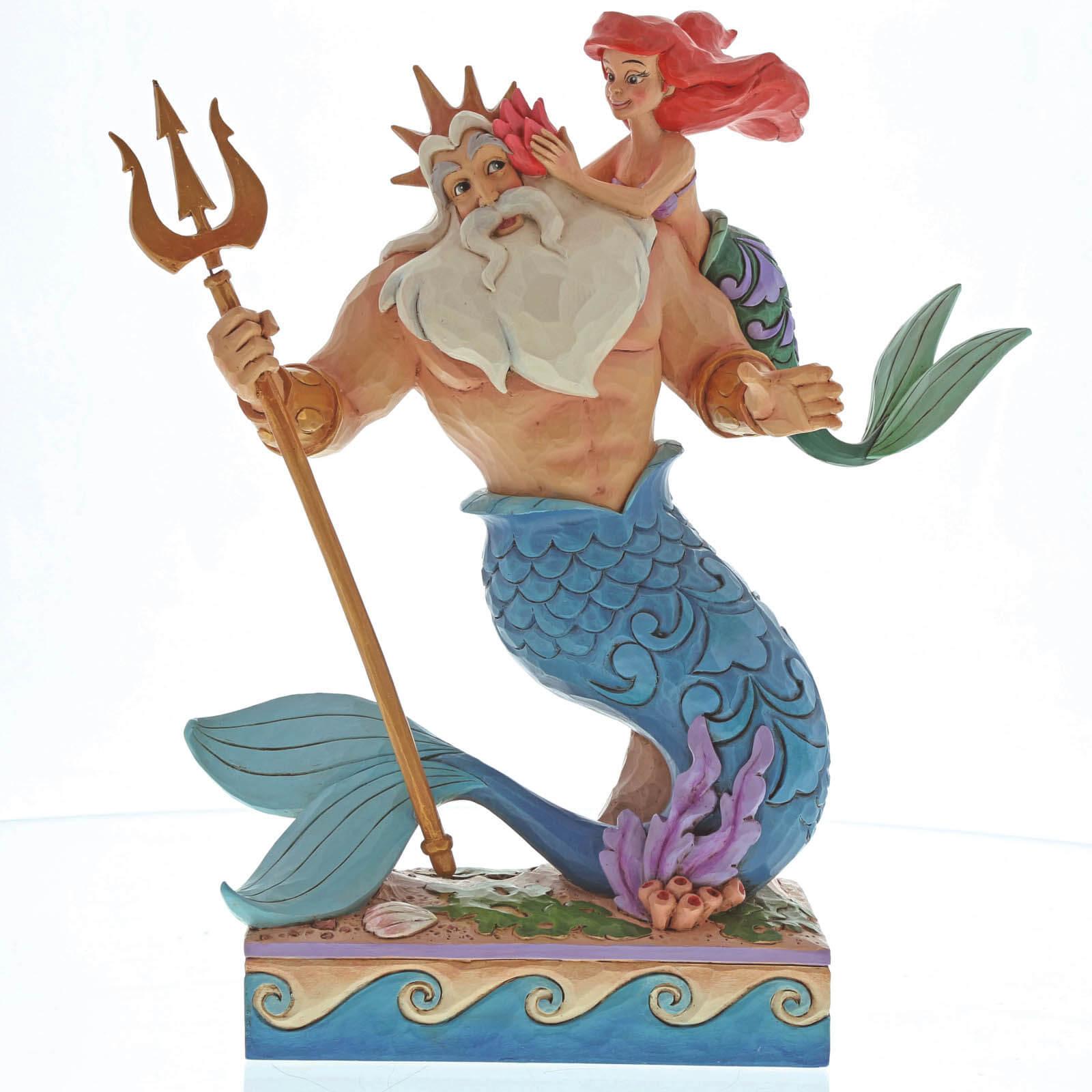Image of Enesco Disney Traditions Daddy's Little Princess - Ariel and Triton Figurine 25cm