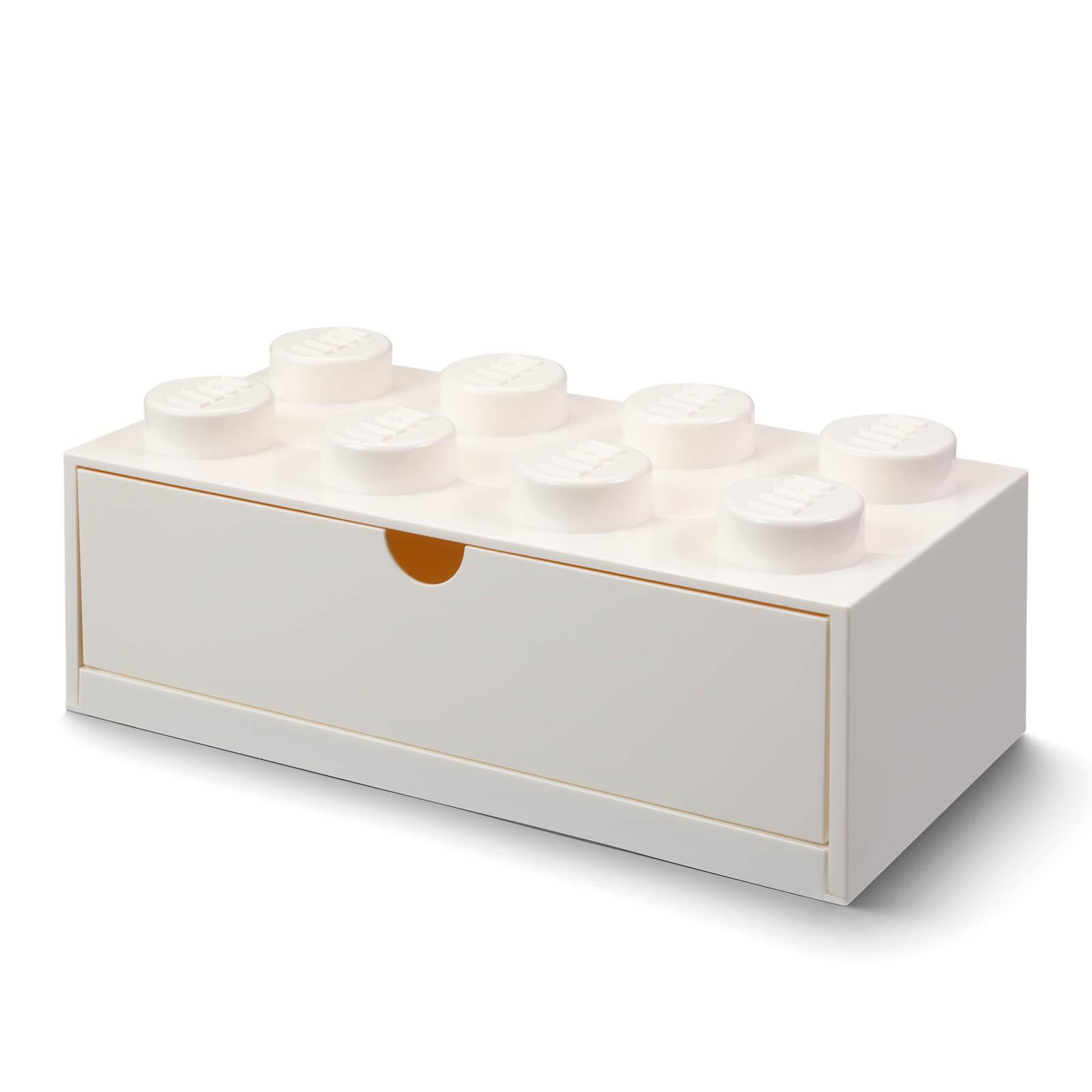 Image of LEGO Storage Desk Drawer 8 - White