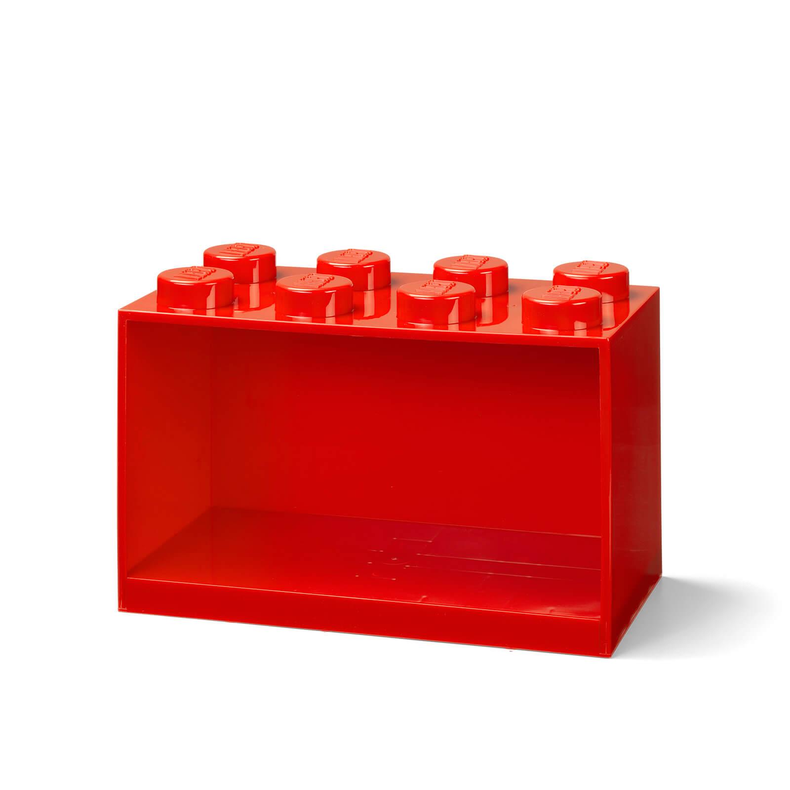 Image of LEGO Storage Brick Shelf 8 - Red