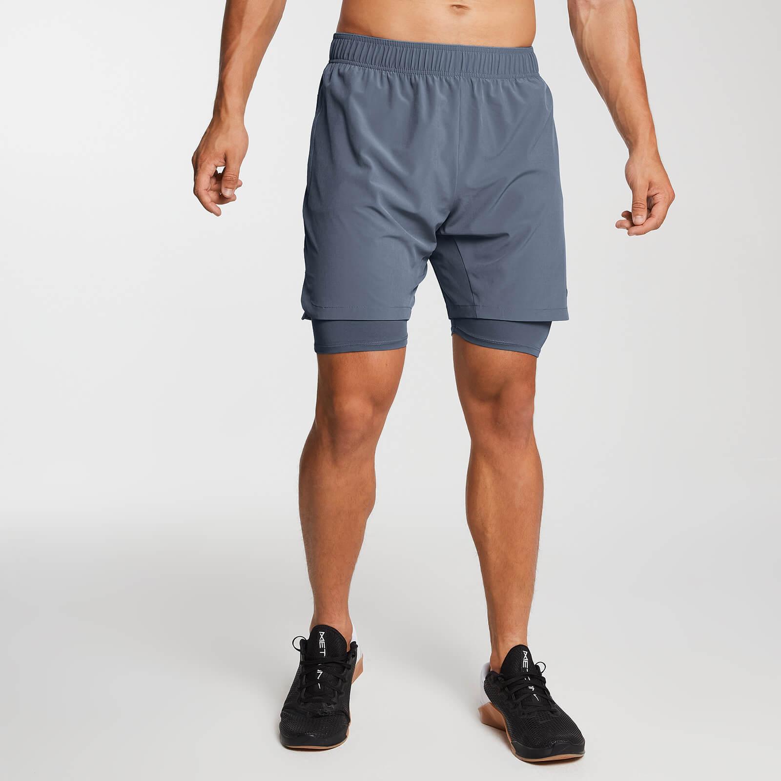 Gewebte 2-in-1 Essential Training Shorts - Galaxy - XXL