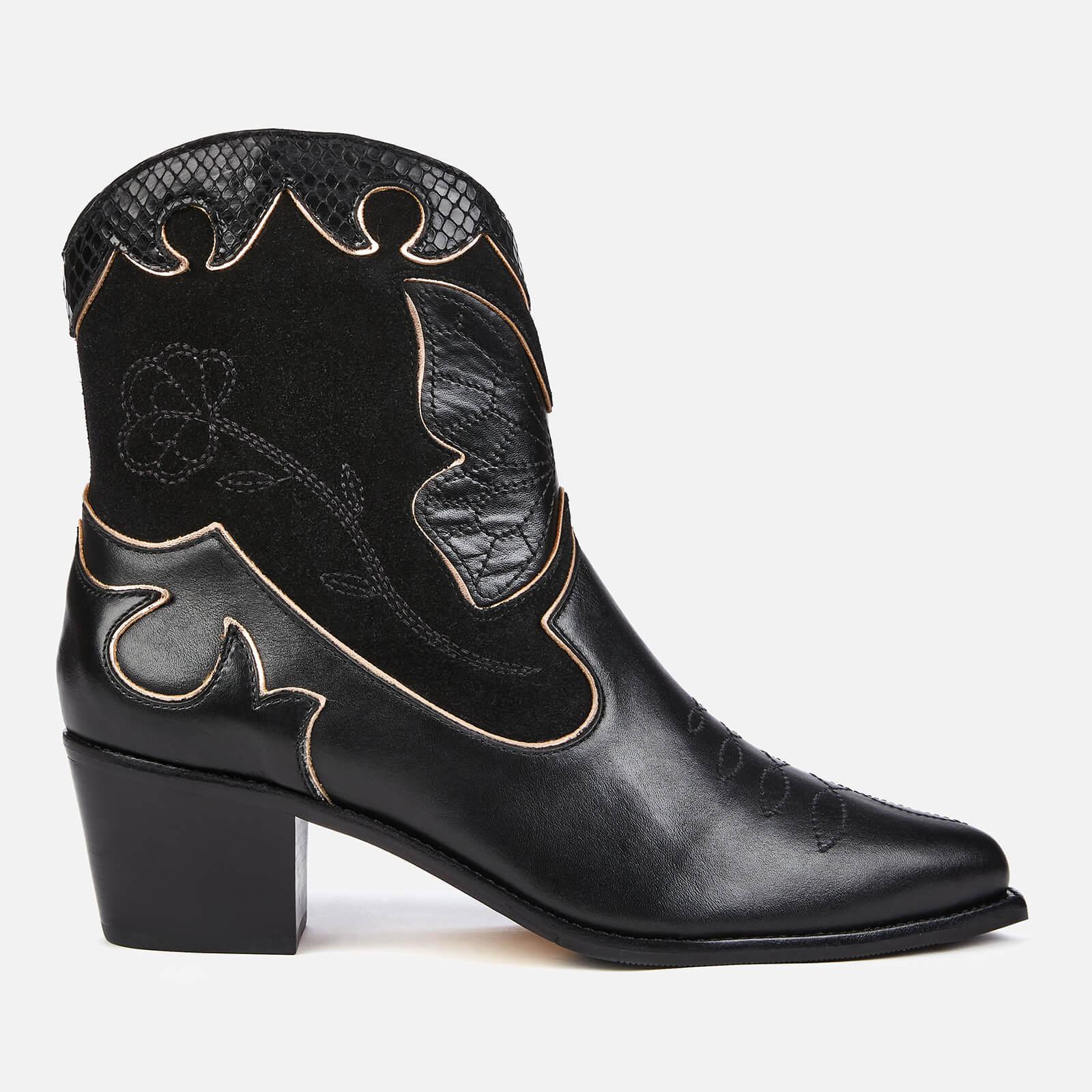 Sophia Webster Women's Shelby Suede Western Boots - Black Snake - UK 4