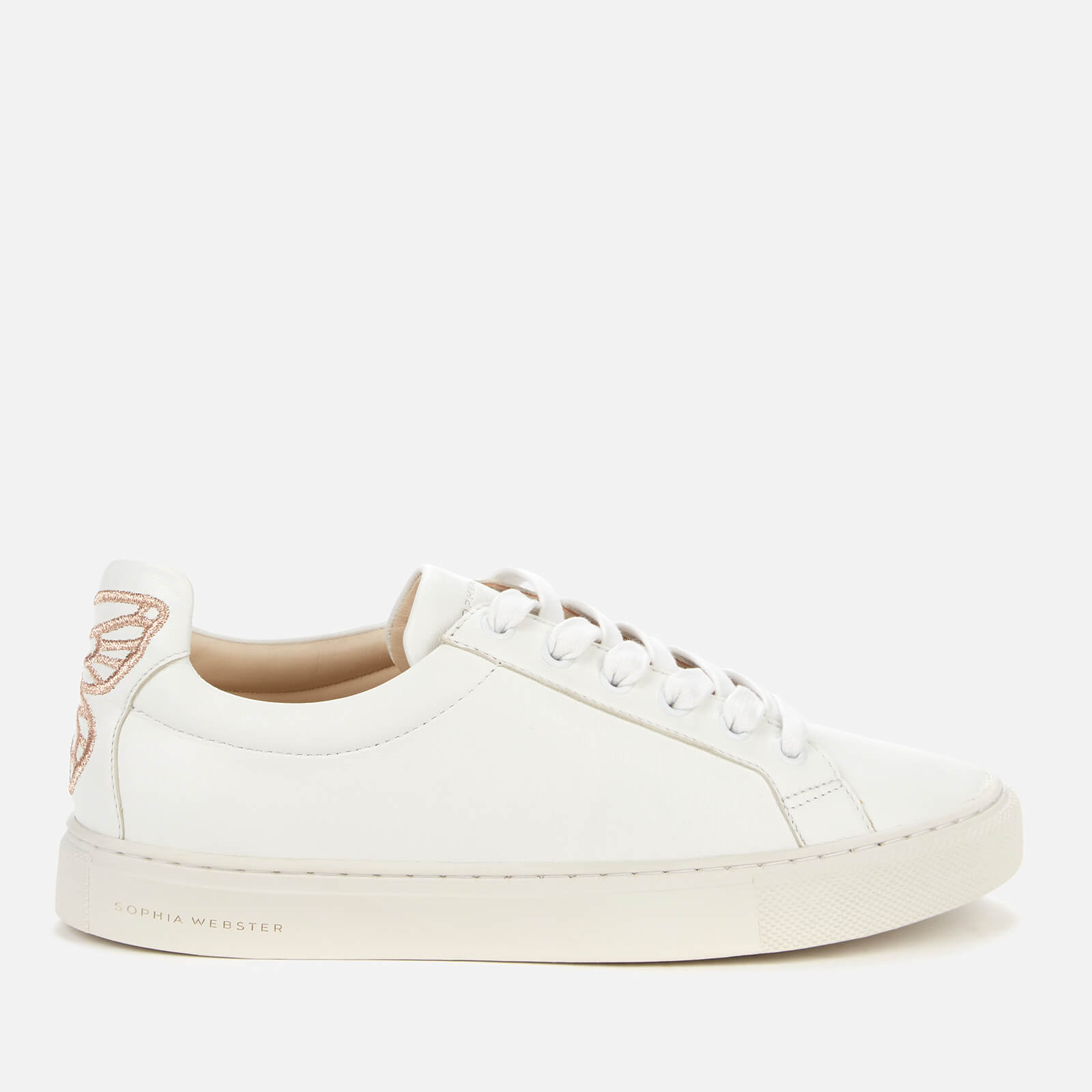 Sophia Webster Women's Butterfly Leather Trainers - White/Rose Gold - UK 5