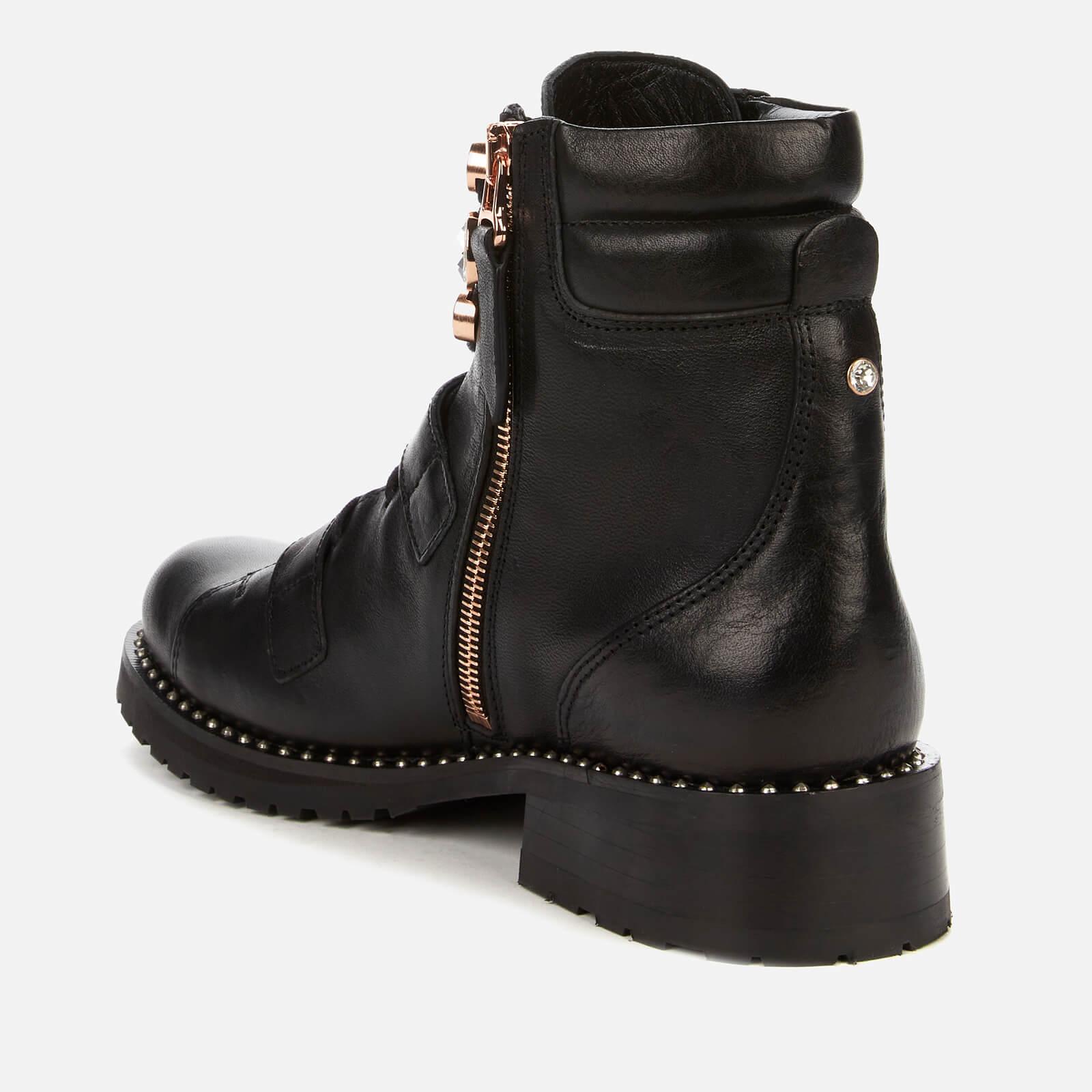 Sophia Webster Women's Ziggy Leather Biker Boots - Black - UK 7