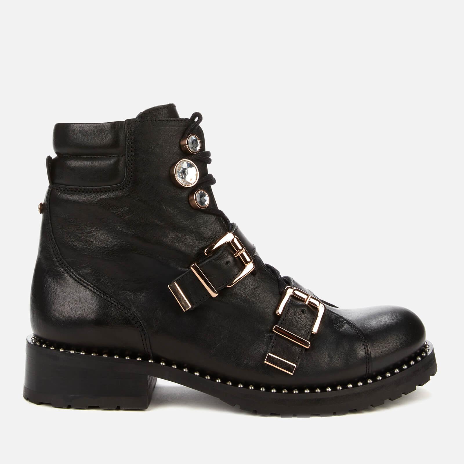 Sophia Webster Women's Ziggy Leather Biker Boots - Black - Uk 3