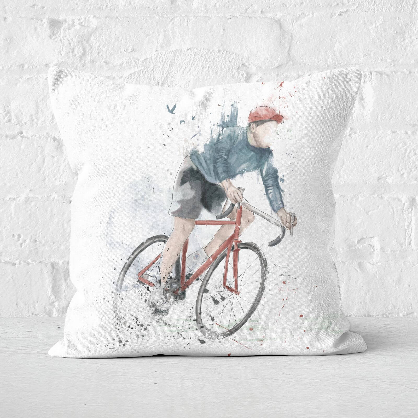 I Want To Ride My Bicycle Cushion Square Cushion   60x60cm   Soft Touch
