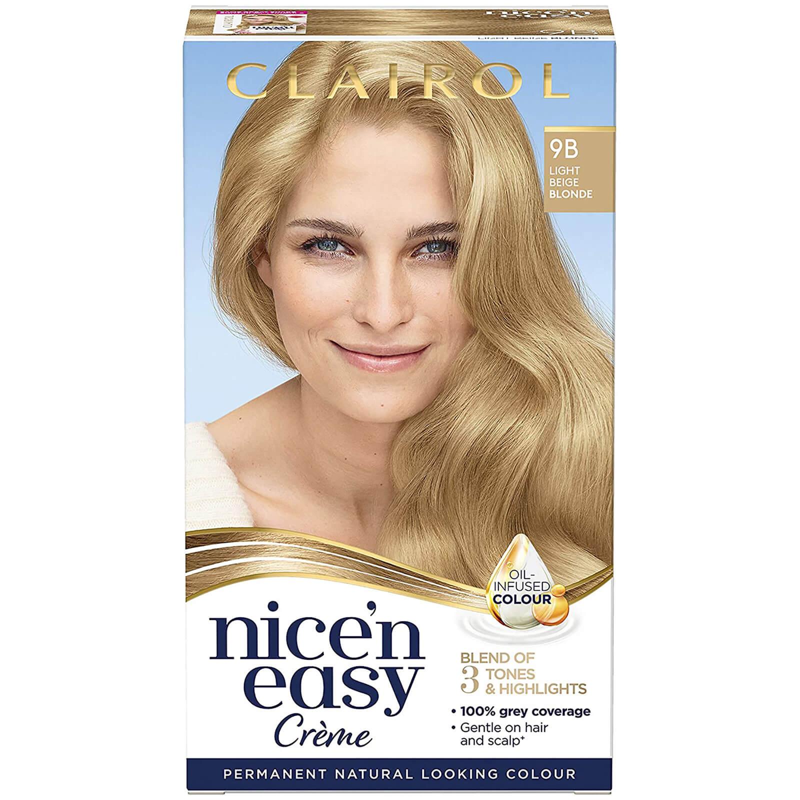 Clairol Nice' n Easy Crème Natural Looking Oil Infused Permanent Hair Dye 177ml (Various Shades) - 9B Light Beige Blonde