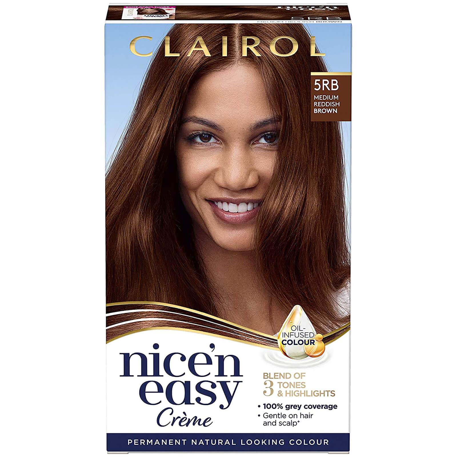 Clairol Nice' n Easy Crème Natural Looking Oil Infused Permanent Hair Dye 177ml (Various Shades) - 5RB Medium Reddish Brown