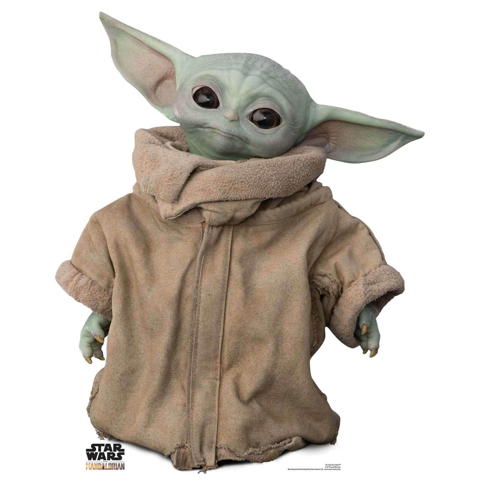 Image of The Mandalorian - The Child Baby Yoda Head Tilt Mini Cardboard Cut Out