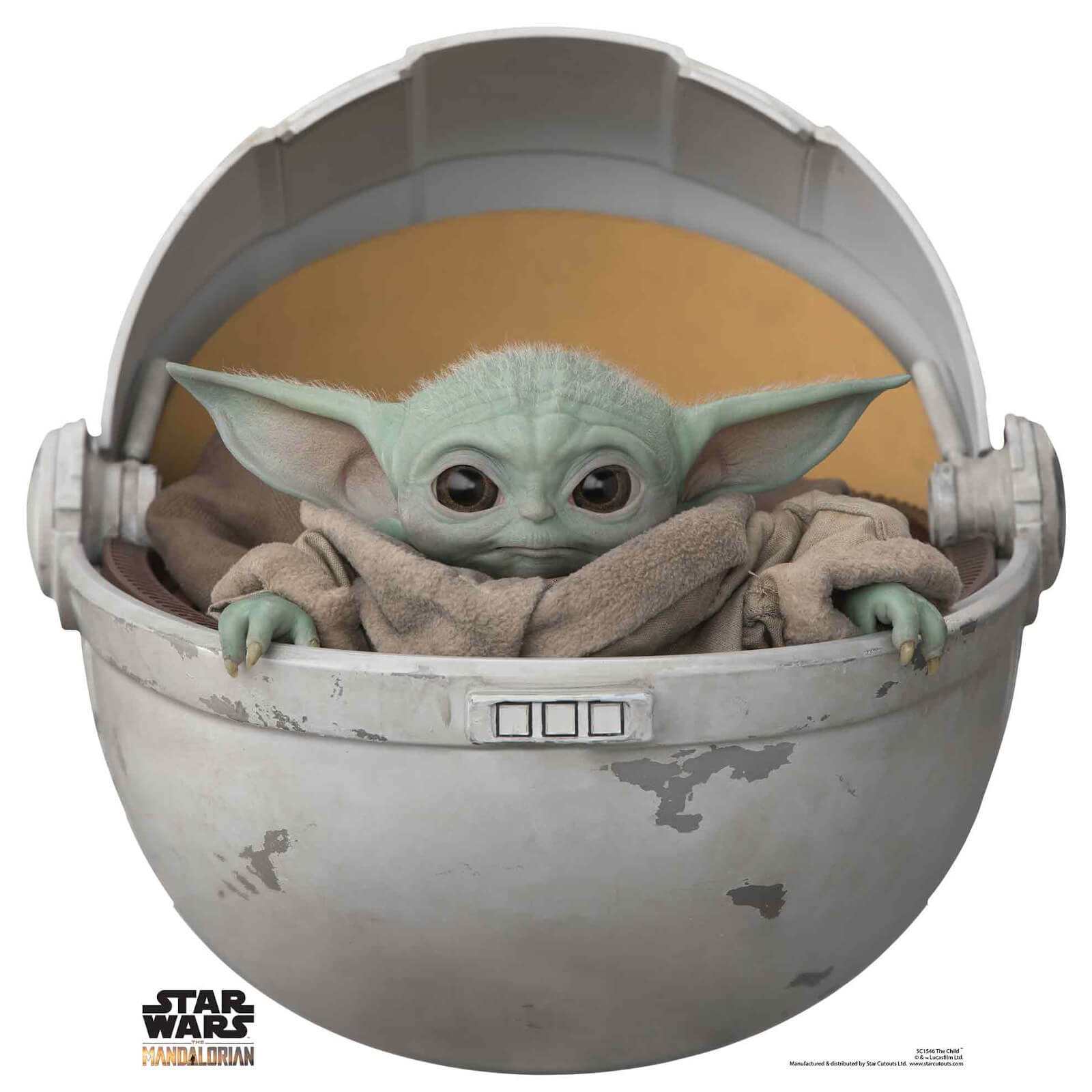 Image of The Mandalorian - The Child Baby Yoda In Pod Mini Cardboard Cut Out