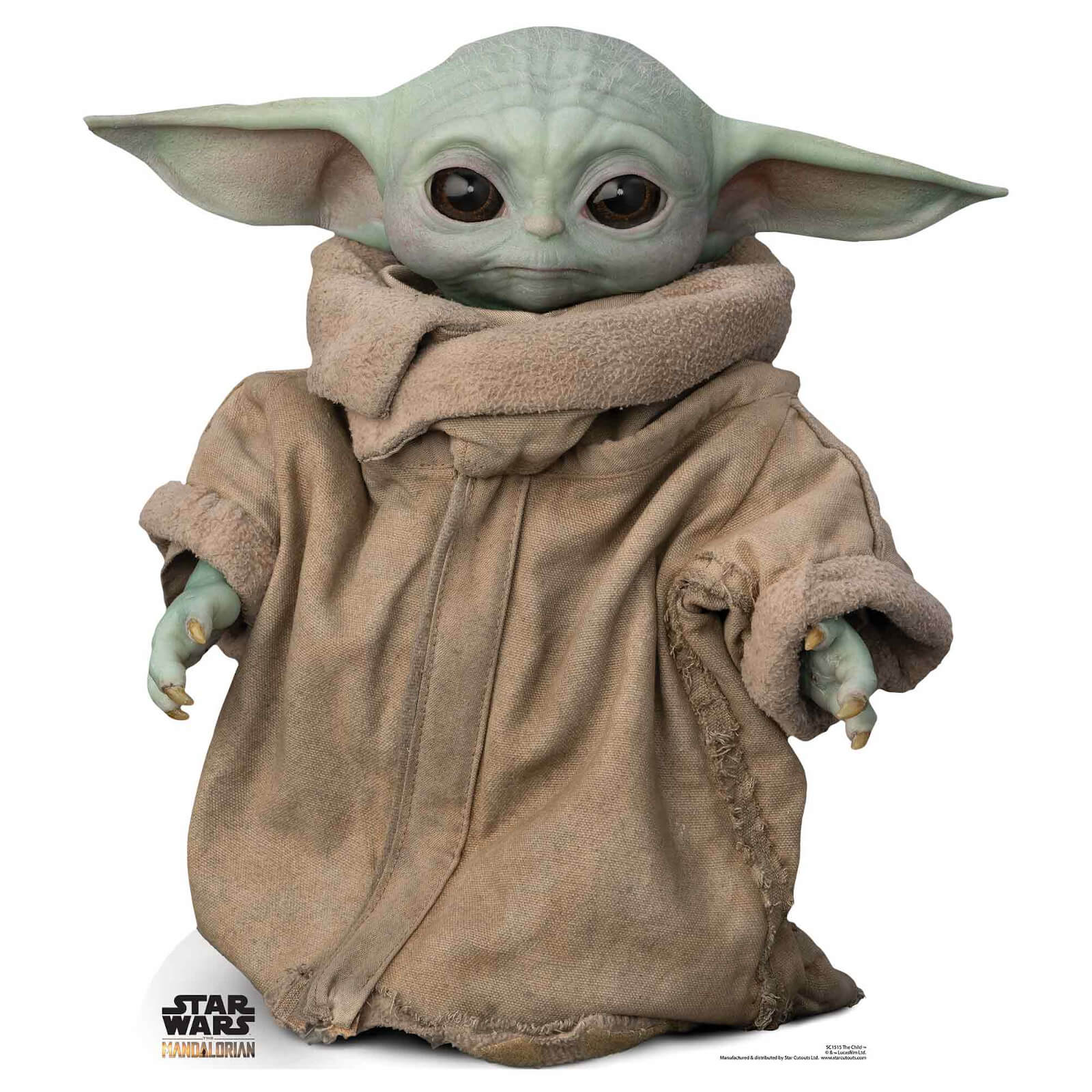 Image of The Mandalorian - The Child Baby Yoda Mini Cardboard Cut Out