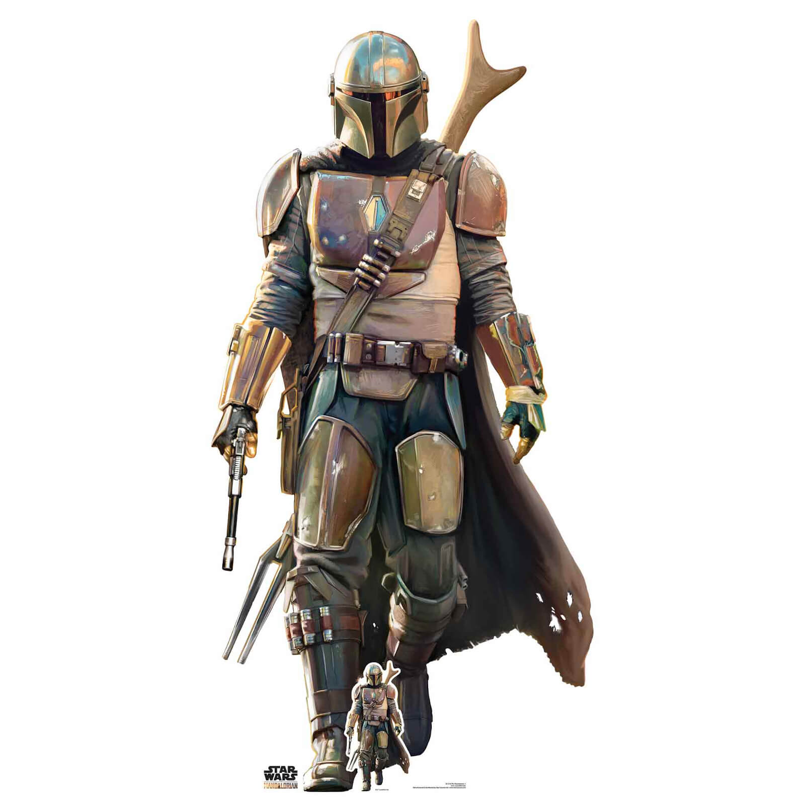 Image of The Mandalorian - Lone Gunfighter Oversized Cardboard Cut Out
