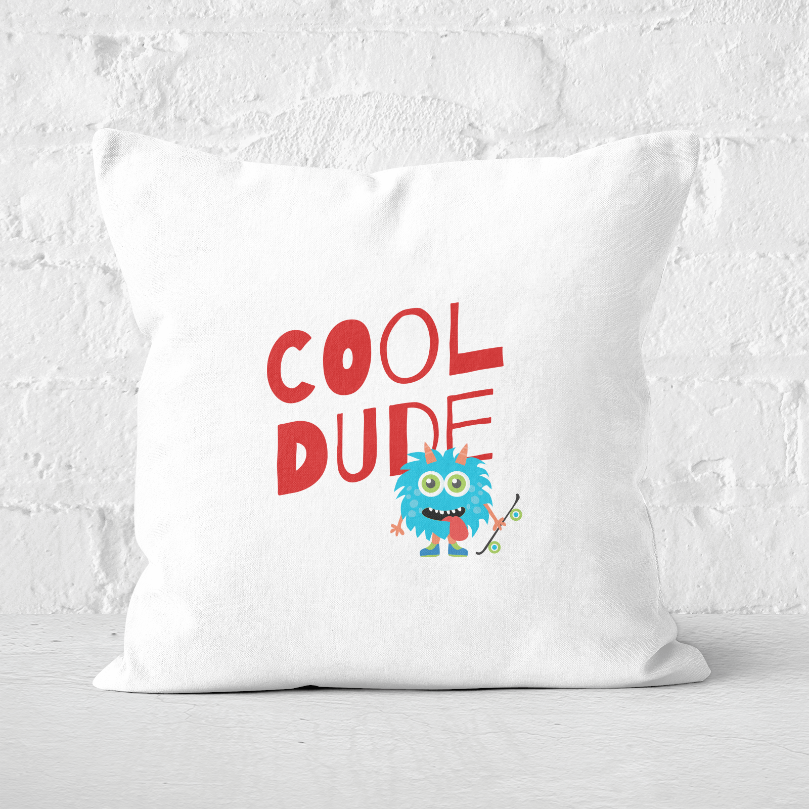 Cool Dude Skateboard Square Cushion   60x60cm   Soft Touch