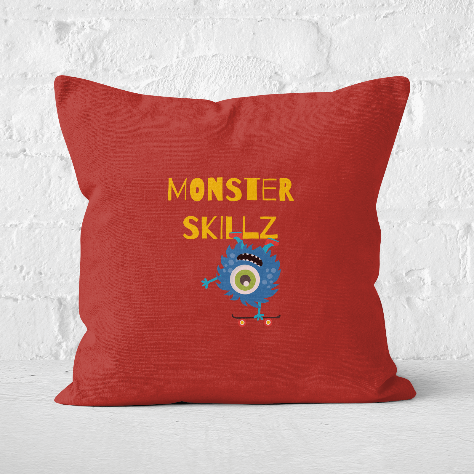 Monster Skillz Square Cushion   40x40cm   Soft Touch