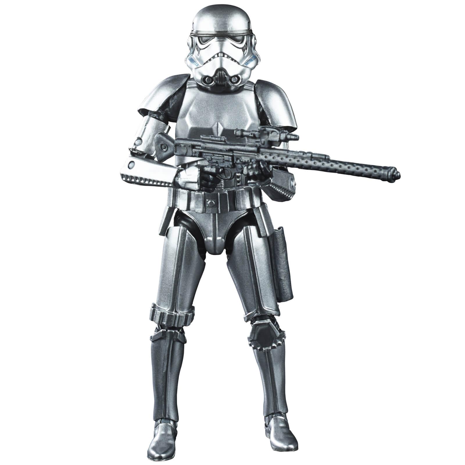 Image of Hasbro Star Wars The Black Series Carbonized Metallic Stormtrooper Action Figure