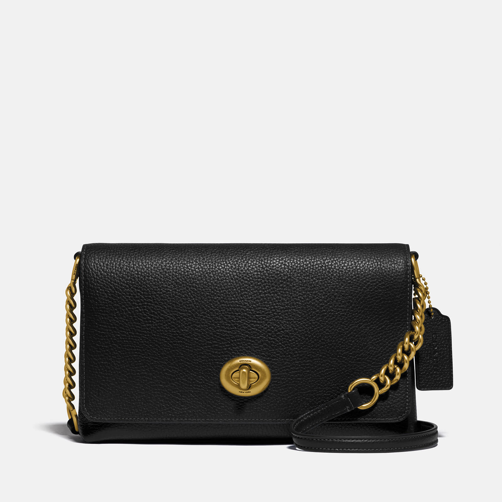 Coach Women's Excl Whsl Polished Pebble Crsstown Xbody Bag - Black