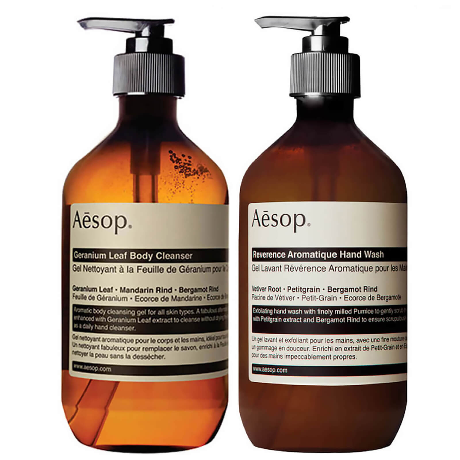 Купить Aesop Geranium Cleanser and Reverence Hand Wash Duo