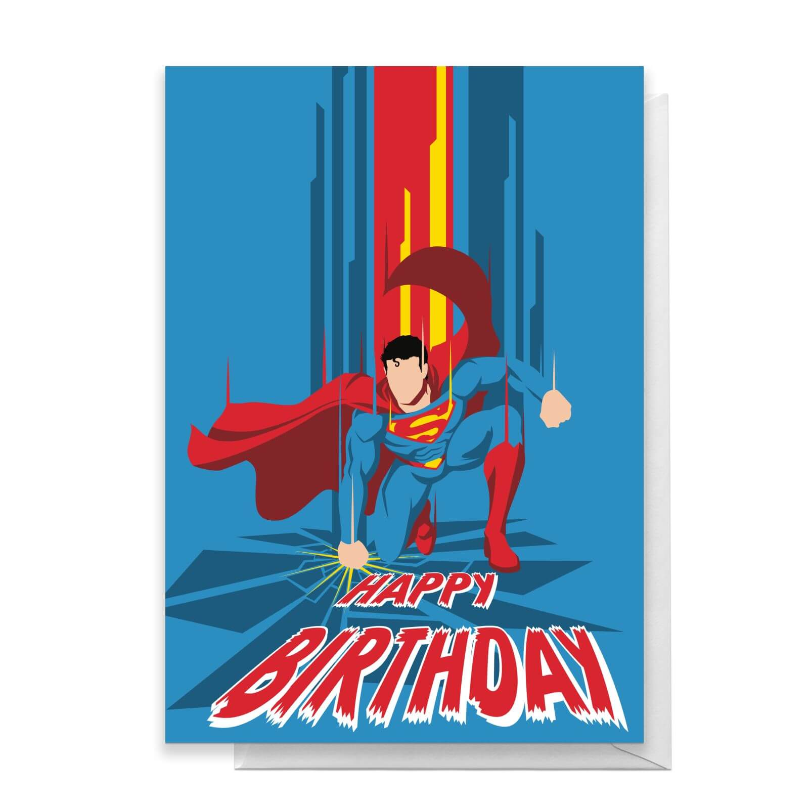 Superman Happy Birthday Greetings Card   Standard Card
