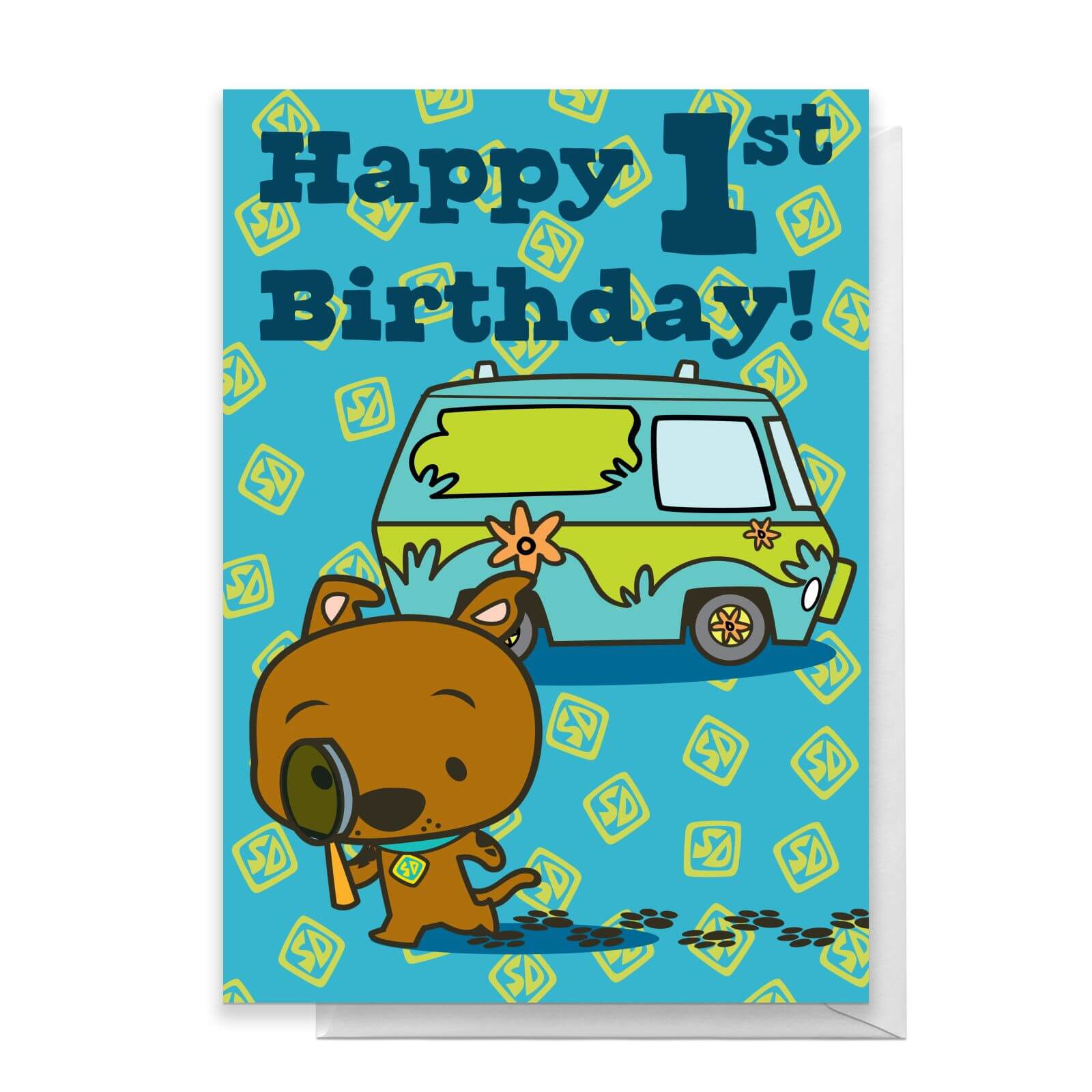 Scooby Doo 1st Birthday Greetings Card Standard Card