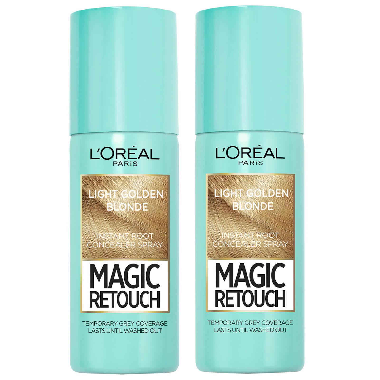 L'Oréal Paris Magic Retouch Light Golden Blonde Root Concealer Spray Duo Pack