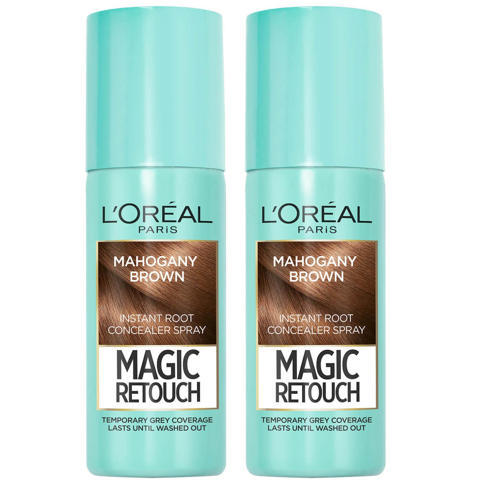 L'Oréal Paris Magic Retouch Mahogany Brown Root Concealer Spray Duo Pack
