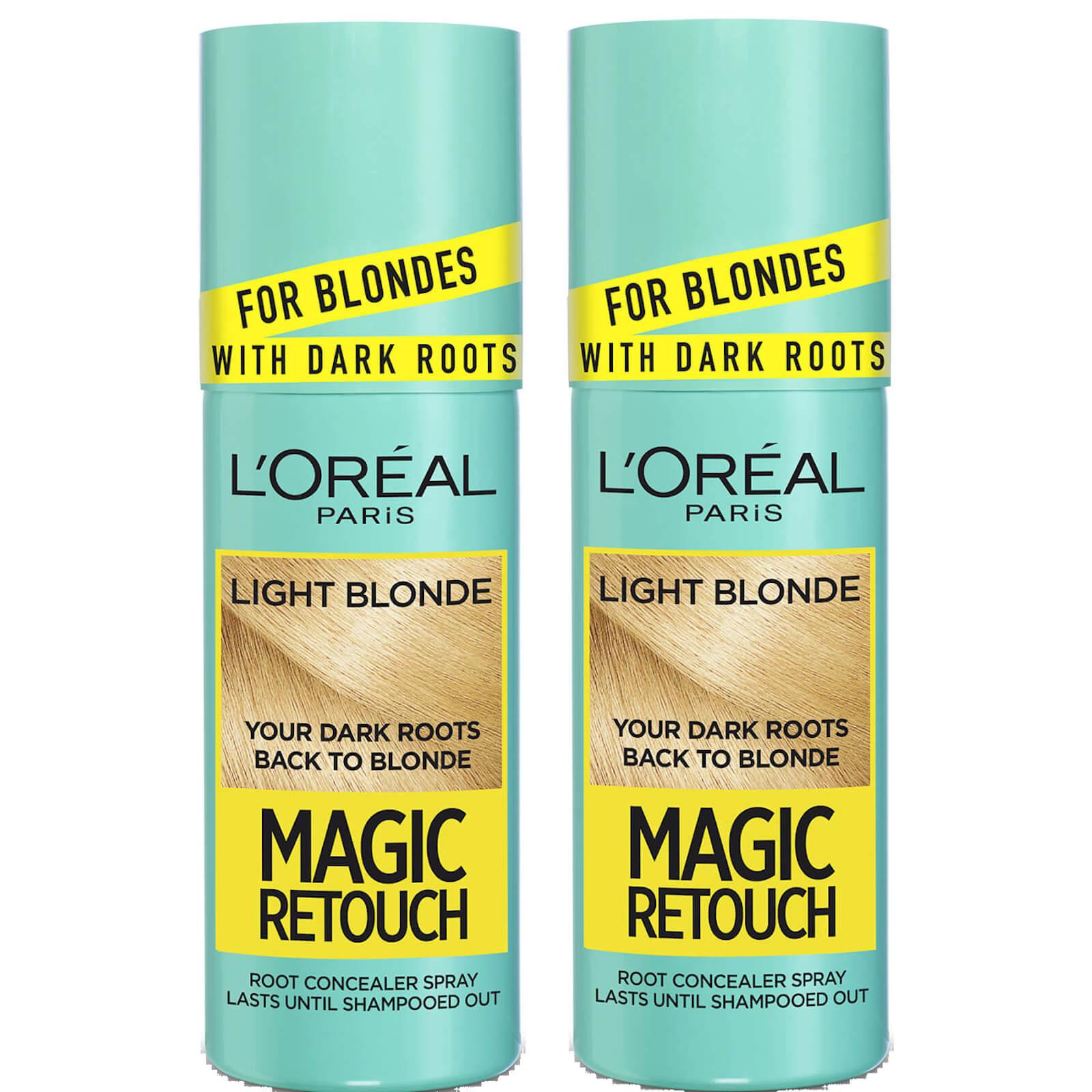 L'Oréal Paris Magic Retouch Light Blonde Root Concealer Spray Duo Pack