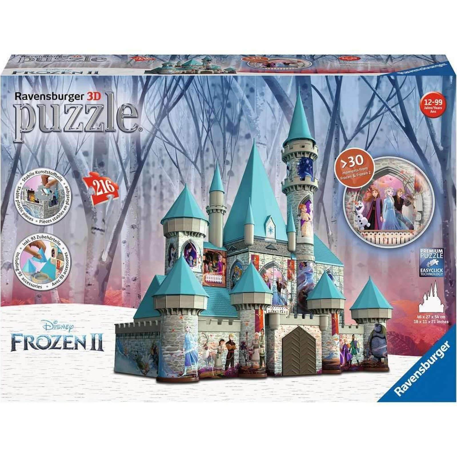 Image of Ravensburger Frozen 2 Castle 3D Jigsaw Puzzle (216 Pieces)