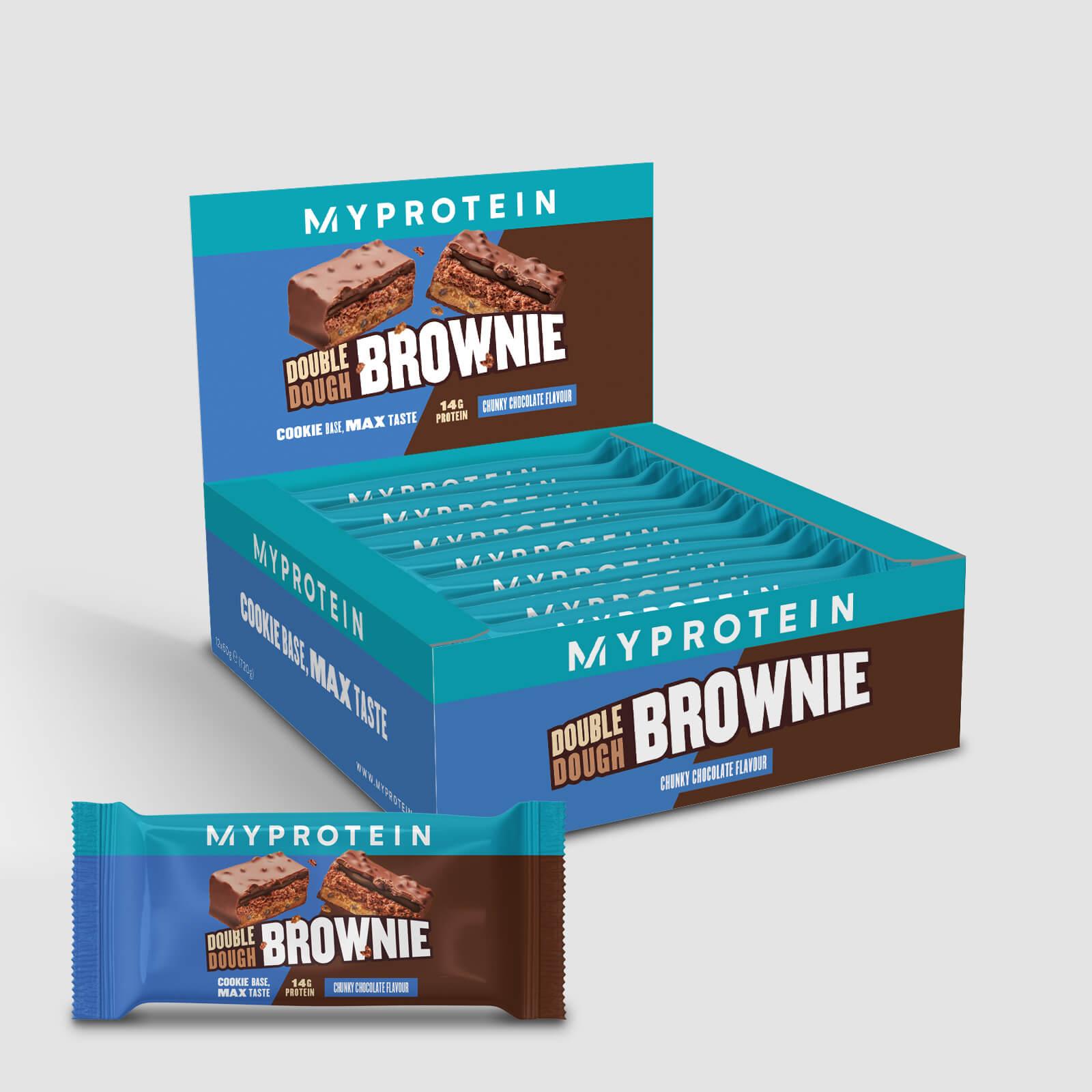 Double Dough Brownie - 12 x 60g - Chunky Chocolate