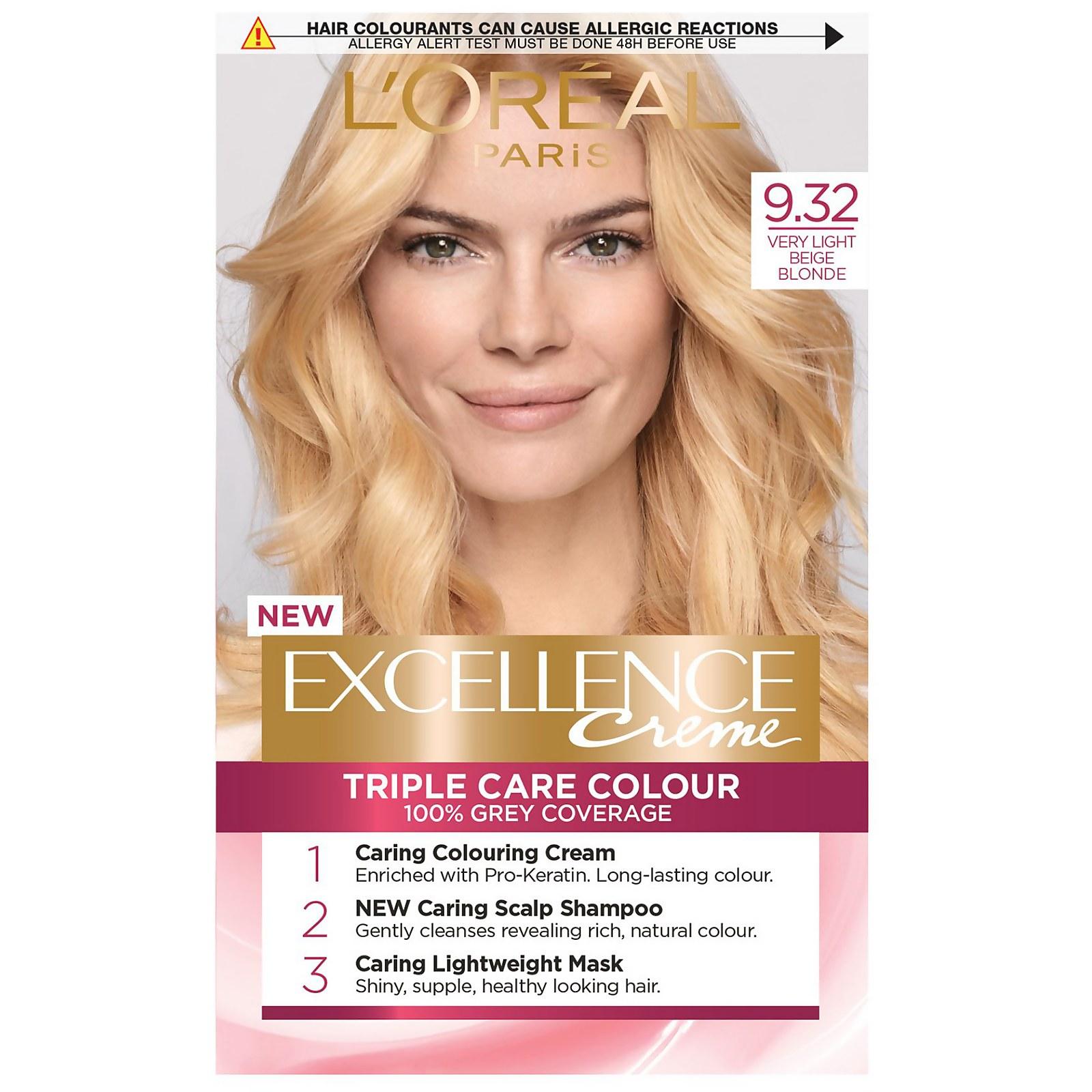 L'Oréal Paris Excellence Crème Permanent Hair Dye (Various Shades) - 9.32 Very Light Beige Blonde