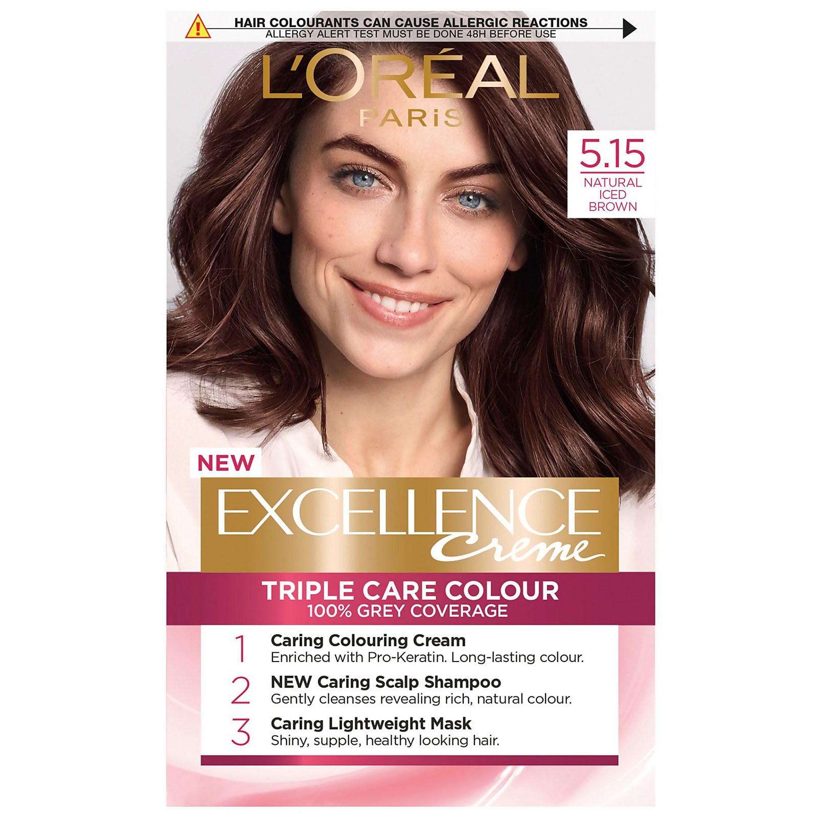 L'Oréal Paris Excellence Crème Permanent Hair Dye (Various Shades) - 5.15 Natural Iced Brown
