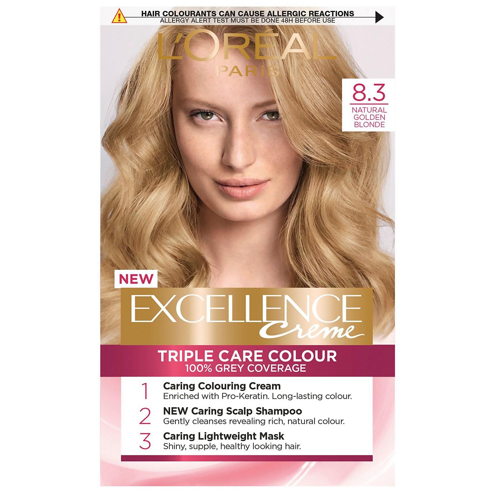 L'Oréal Paris Excellence Crème Permanent Hair Dye (Various Shades) - 8.3 Natural Golden Blonde