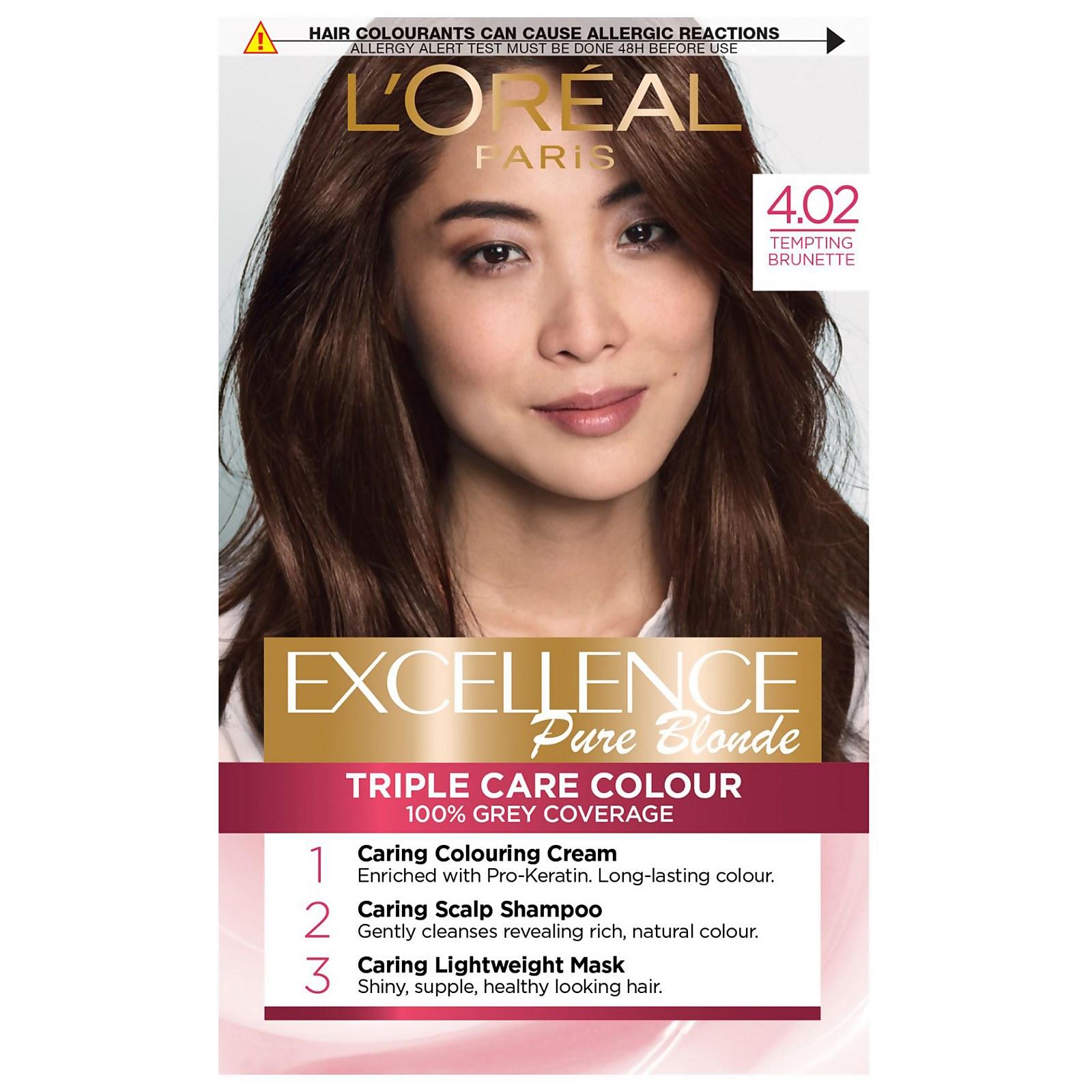 L'Oréal Paris Excellence Crème Permanent Hair Dye (Various Shades) - 4.02 Tempting Brunette