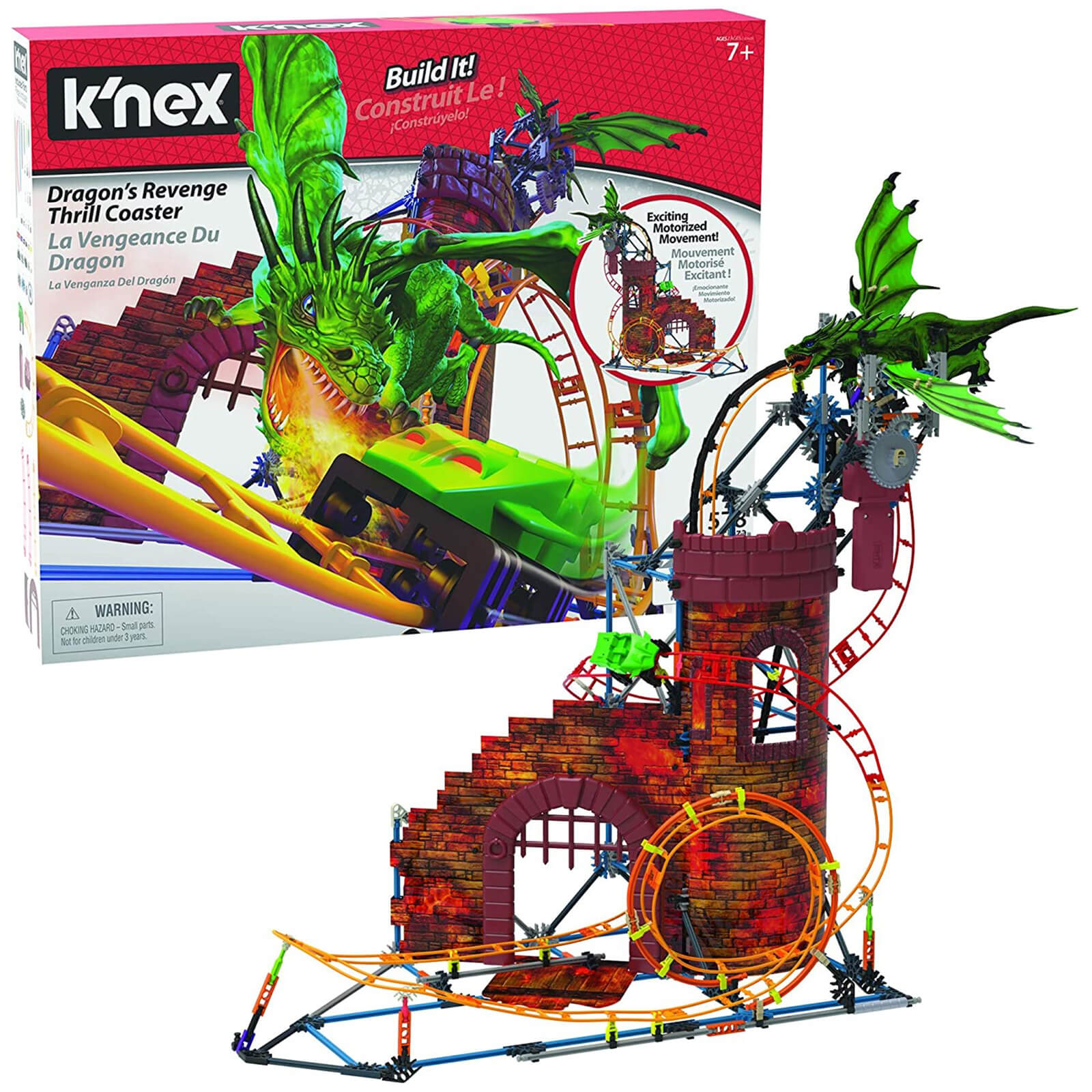 Image of Knex Dragon Revent Thrill Coaster Ride Building Set