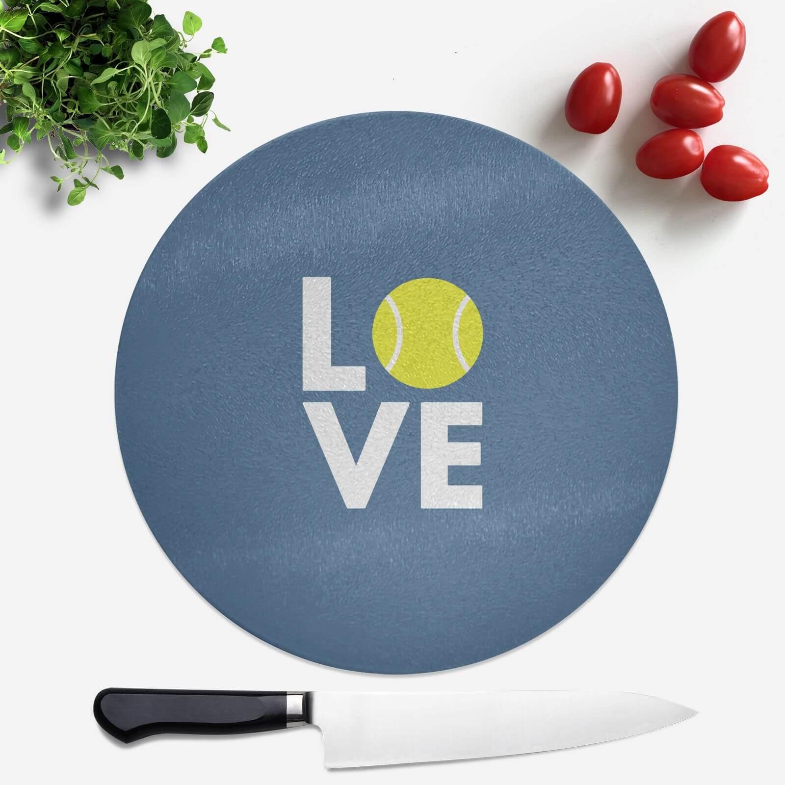 Love Tennis Round Chopping Board