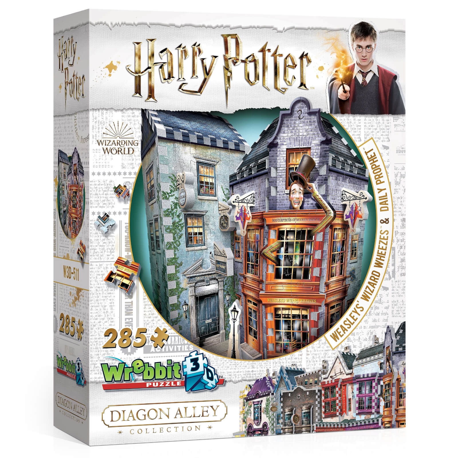 Image of Diagon Alley Collection Weasley Wizards Wheezes 3D Puzzle (285 Pieces)