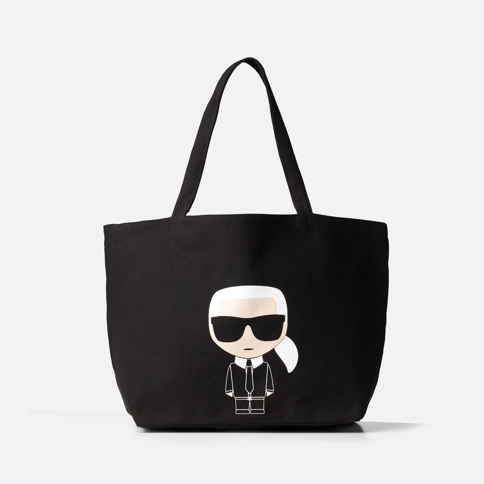 Karl Lagerfeld Women's K/Ikonik Karl Tote Bag - Black