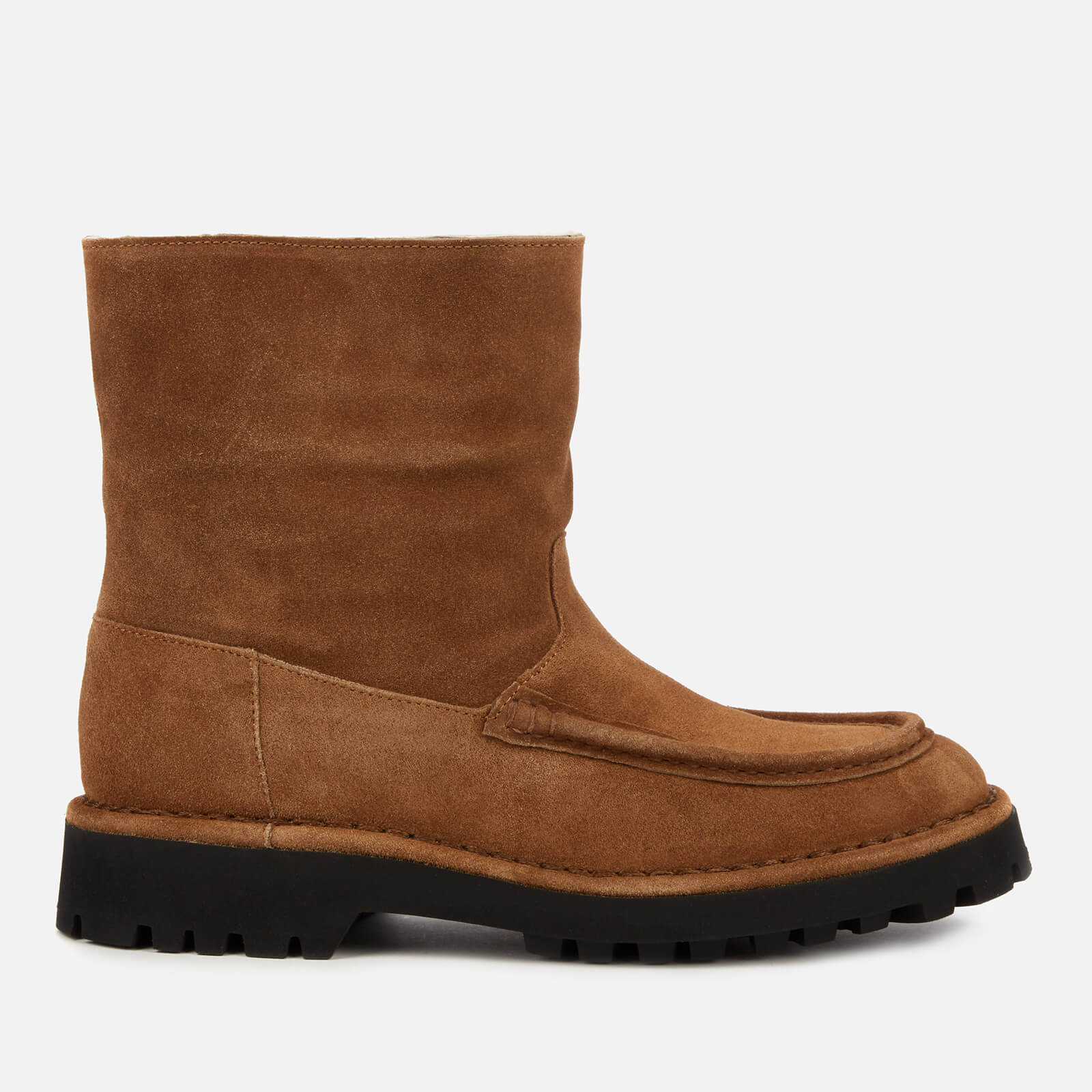 Kenzo Women's K-Mount Suede/Shearling Lined Boots - Brown - Uk 4