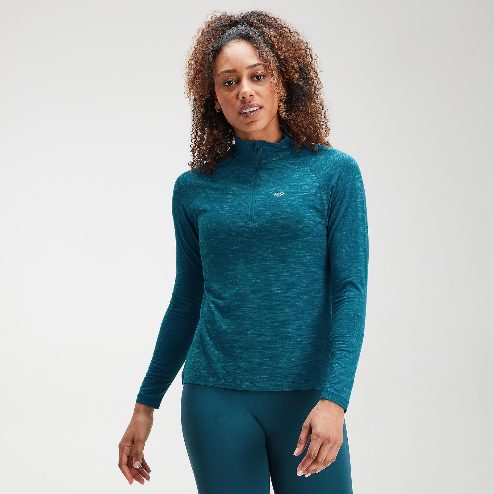 Haut à fermeture éclair ¼ MP Performance pour femmes – Bleu sarcelle - XXS