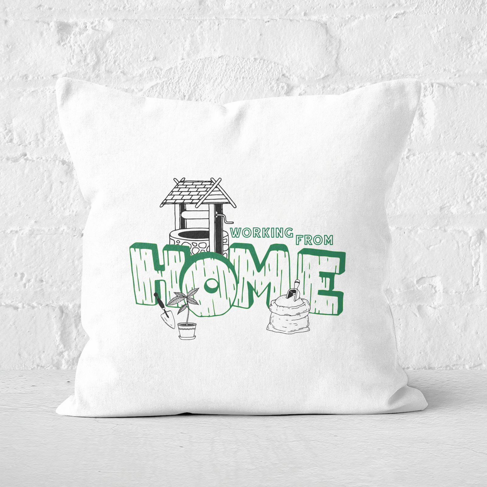 Gardening Working From Home Square Cushion   40x40cm   Soft Touch
